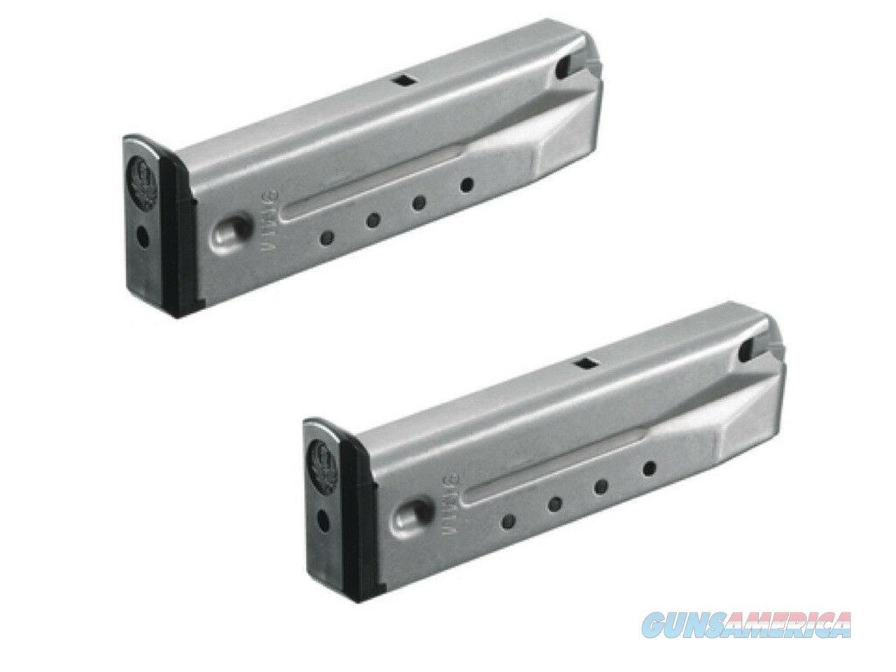 2 Pack Ruger P89 P93 P94 P95 10 Round Magazine 9mm Mag Magazines Stainless  Non-Guns > Ammunition