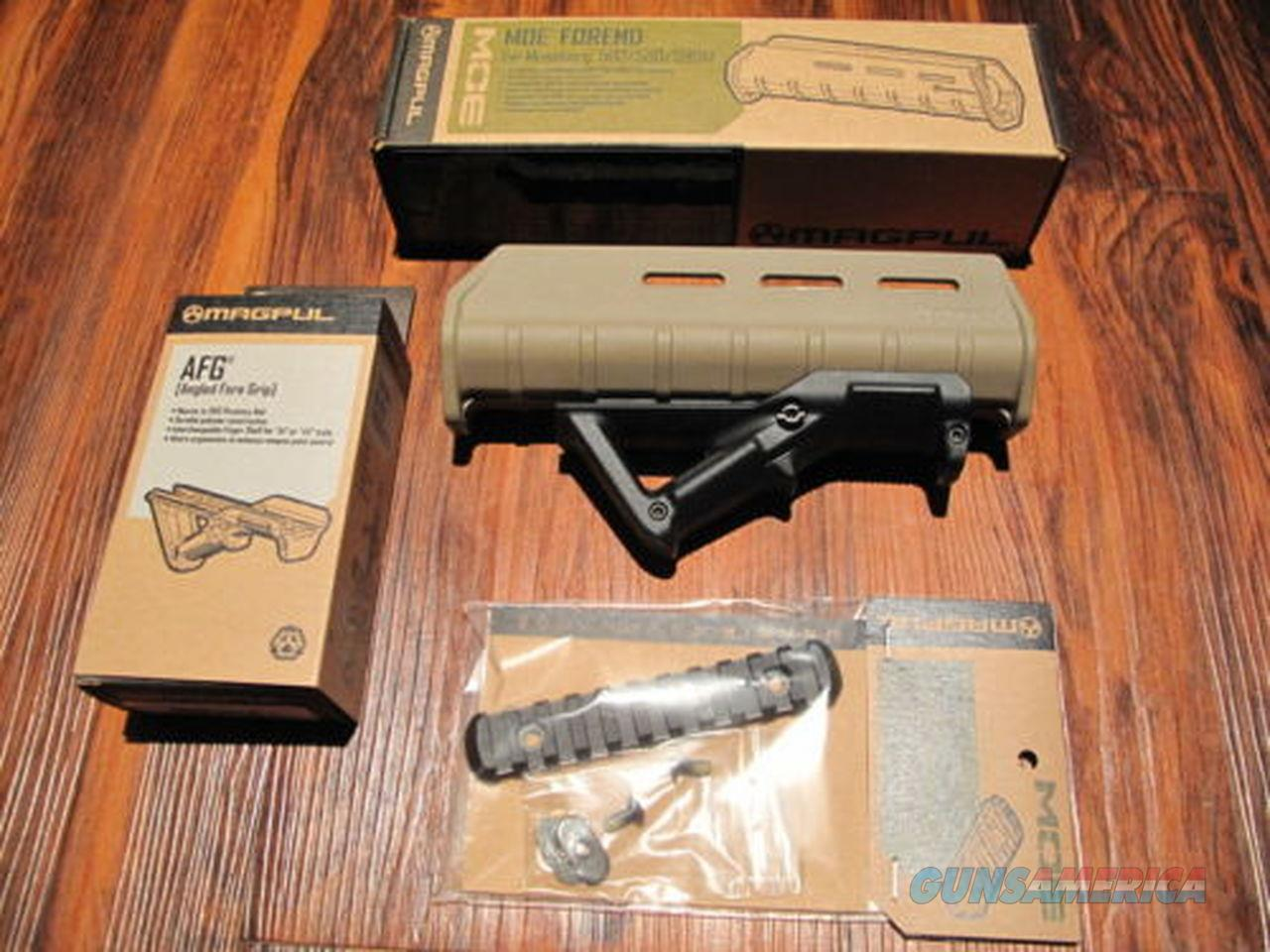 "Magpul Pardner Pump Shotgun Forend w Angled Foregrip AFG 5"" Rail Desert TAN  Non-Guns > Ammunition"