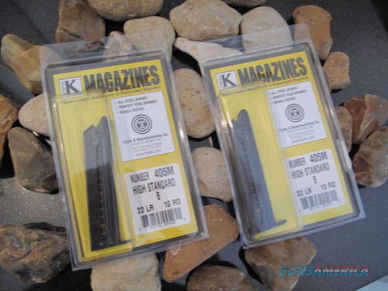 2-Pack Fits HIGH STANDARD MAGAZINE Fits MODEL B B-US HB GB MAG 22 LR 10 RD Mags  Non-Guns > Ammunition