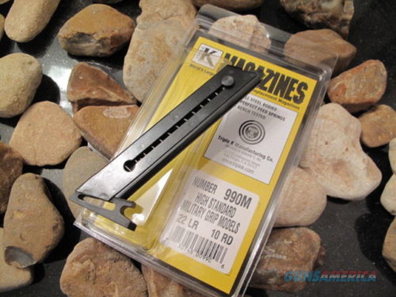 1 SINGLE Fits High Standard MILITARY GRIP MAGAZINE Mags US MADE 22LR 10 Rd 22  Non-Guns > Ammunition