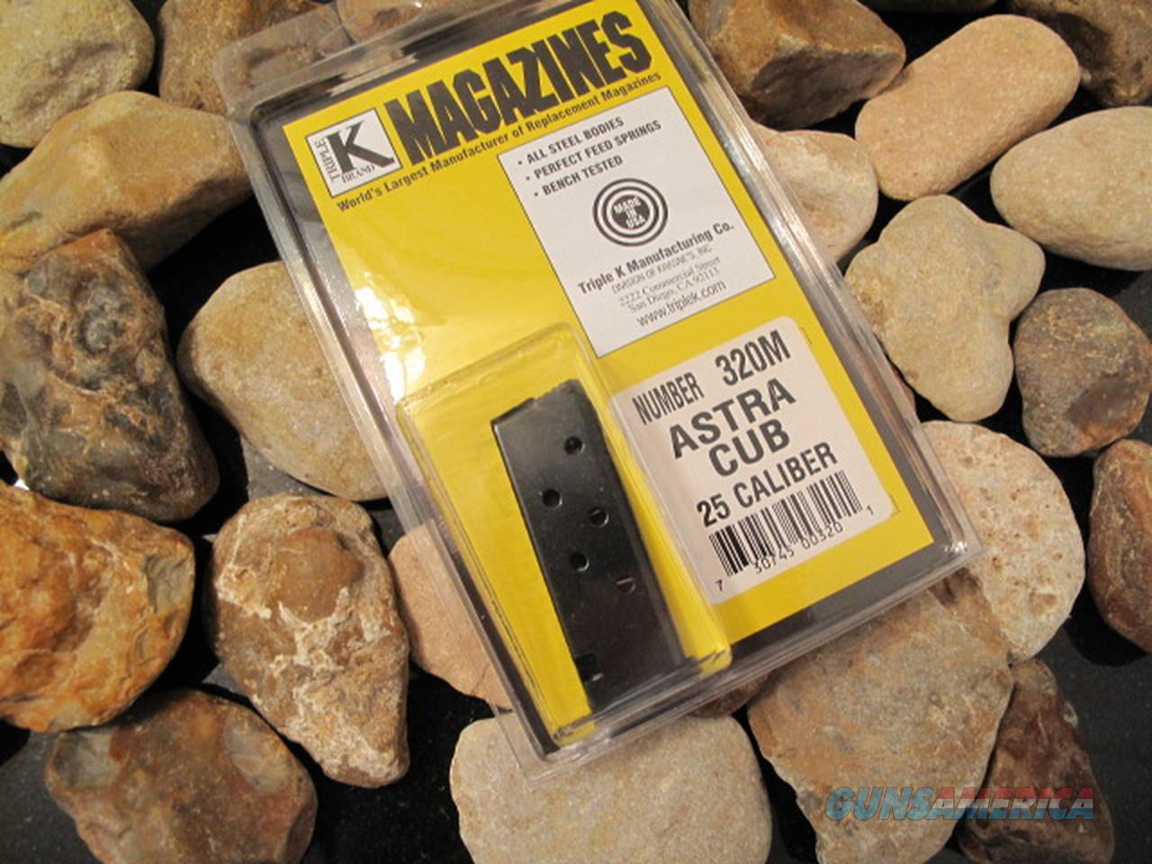 3-Pack Fits ASTRA CUB Mags Magazine Discontinued 6 Round Blue NEW .25 25 ACP  Non-Guns > Ammunition