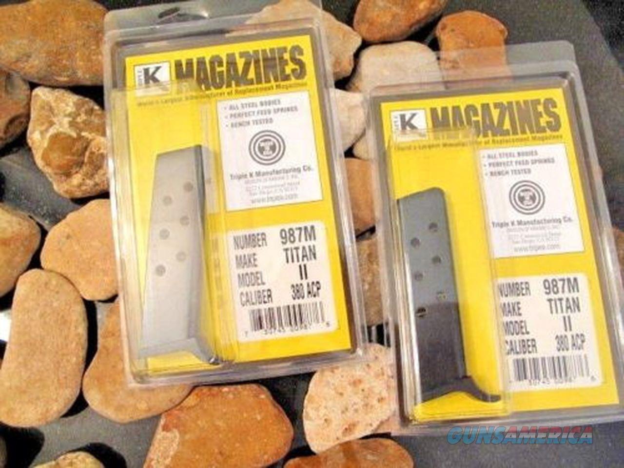 2-Pack Fits FIE Titan II, Excam GT, Targa 380 or 32 Blued Steel 7 RD Magazine  Non-Guns > Ammunition