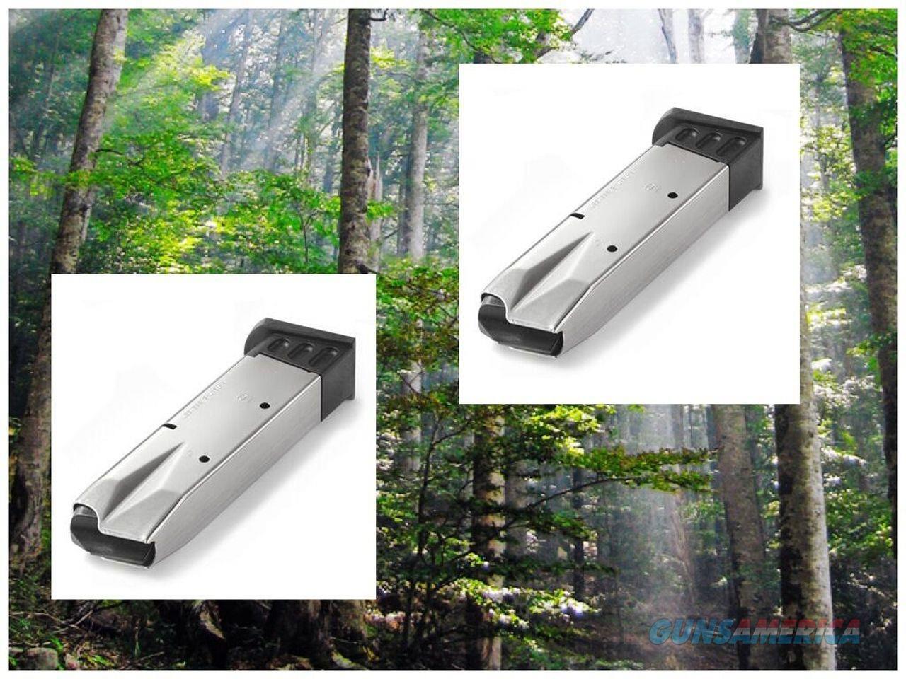 2-Pack TAURUS 92 & 99 GLOSS NICKEL 9mm 9 mm Pistol Mag 10 Round Magazine MECGAR  Non-Guns > Ammunition