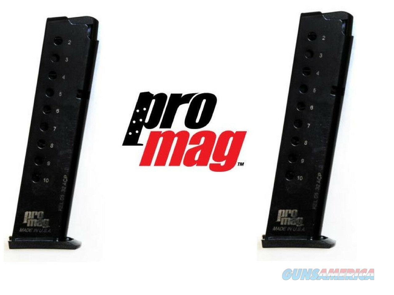 2 Pack PROMAG Kel Tec KELTEC P32 P-32 Auto ACP 32 10 RD Magazine Mag Magazines   Non-Guns > Ammunition