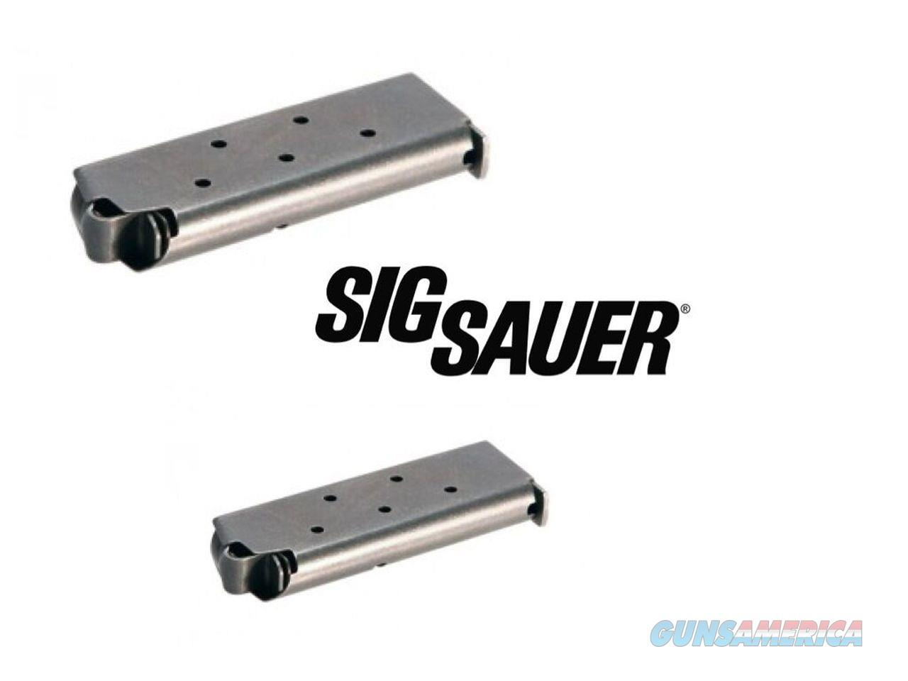 2-Pack Sig p238 P 238 380 .380 6 Round SIG BRAND Mag Magazines Magazine SIG OEM!  Non-Guns > Ammunition