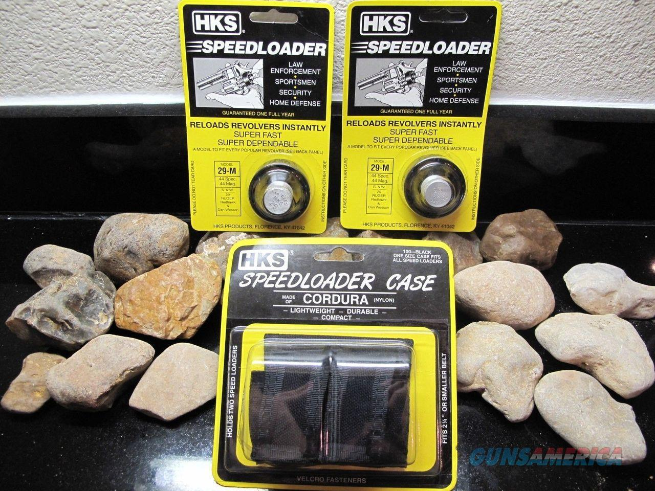 3PACK!! HKS Speedloader 2-pack of Model 29-M Magnum.44 MAG! WITH POUCH  Non-Guns > Ammunition