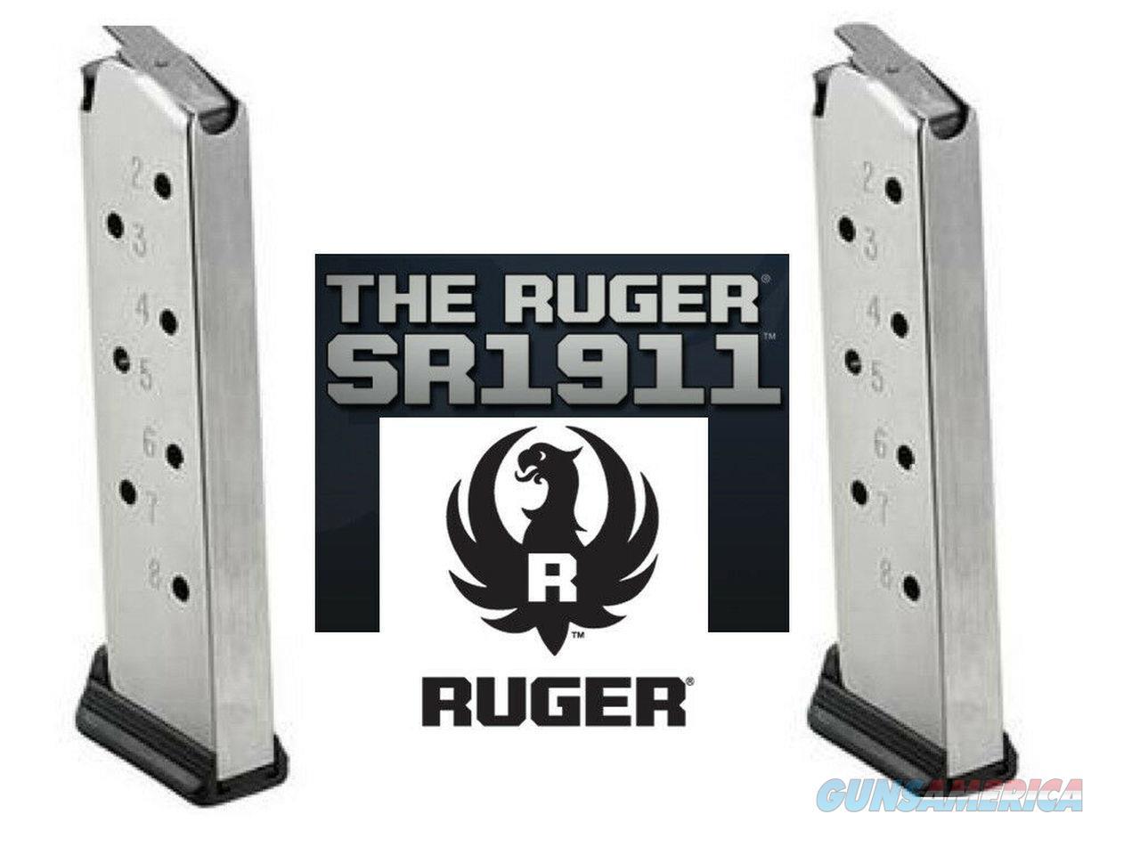 10 Pack Ruger SR1911 AUTHENTIC Magazine 8 Round Mag Magazines SR 1911 .45 45   Non-Guns > Ammunition