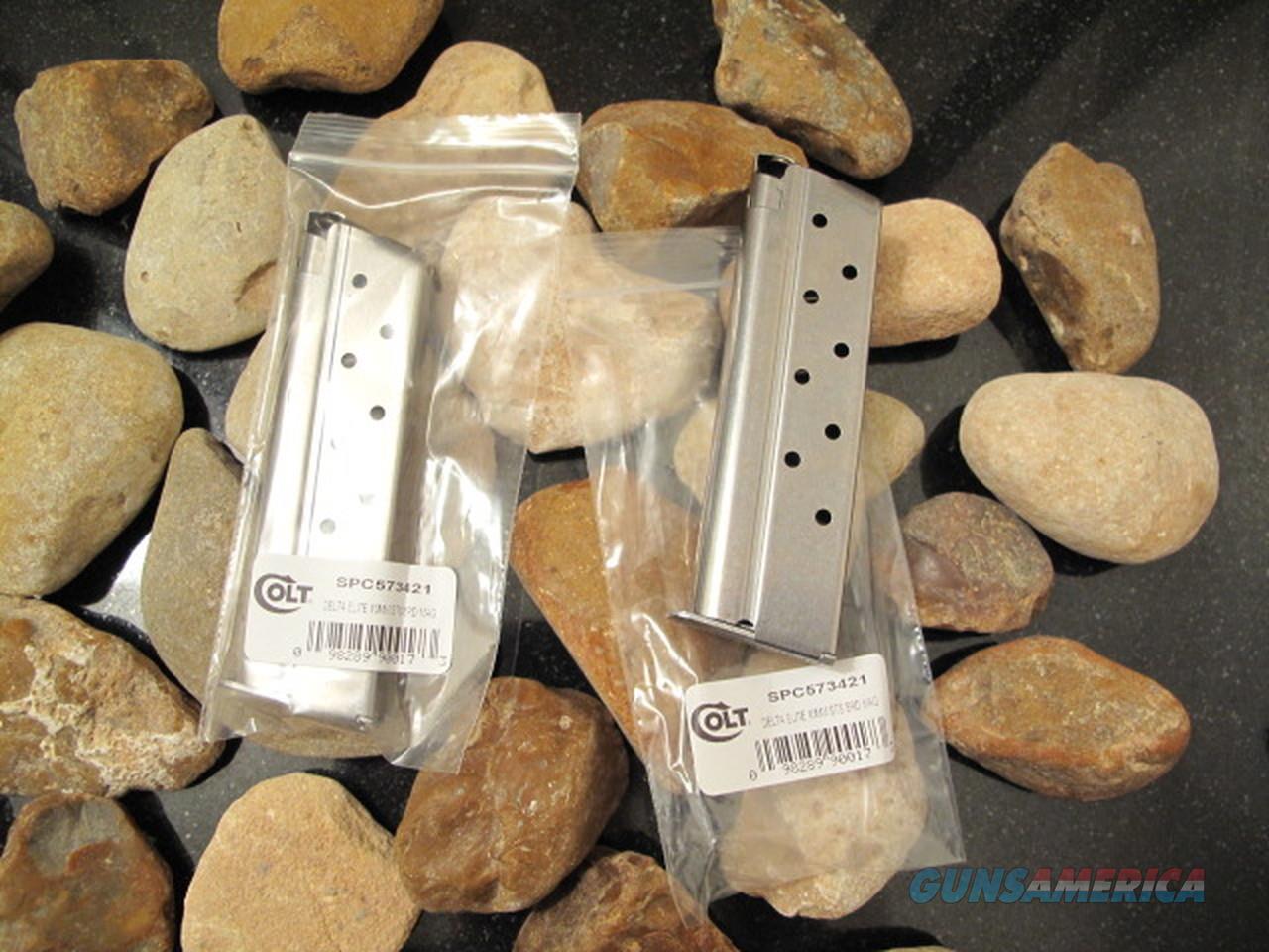 2-Pack COLT Delta Elite 10mm 1911 10 MM Magazines Mag 8 Round PONY STAMPED!  Non-Guns > Ammunition