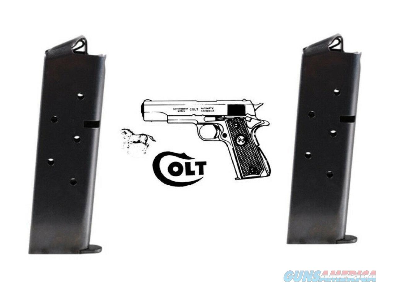 5 Pack Colt OEM 1911 .45 full-Size Magazines Mag 7 Round BLUE Made in the USA!   Non-Guns > Ammunition