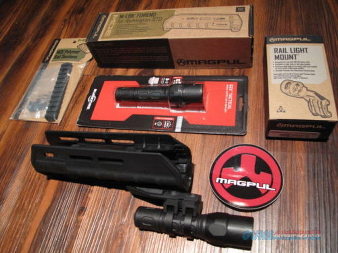 "Magpul & Surefire Remington 870 Forend G2X Flashlight Mount w 5"" Rail BLACK  Non-Guns > Ammunition"