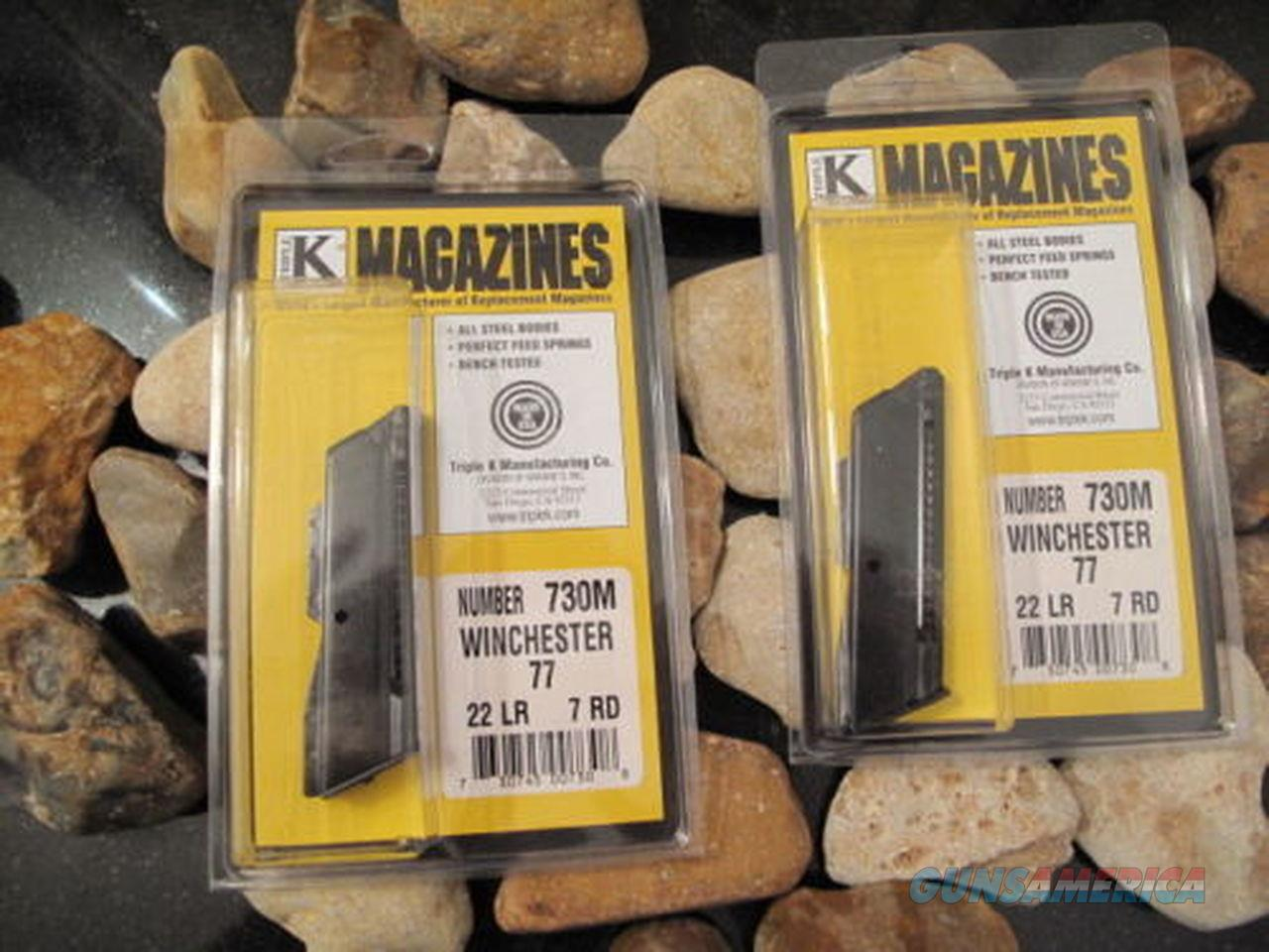2-Pack MAGAZINE FITS WINCHESTER MODEL 77 RIFLE, 22LR 7RD BLUED .22 LR  Non-Guns > Ammunition