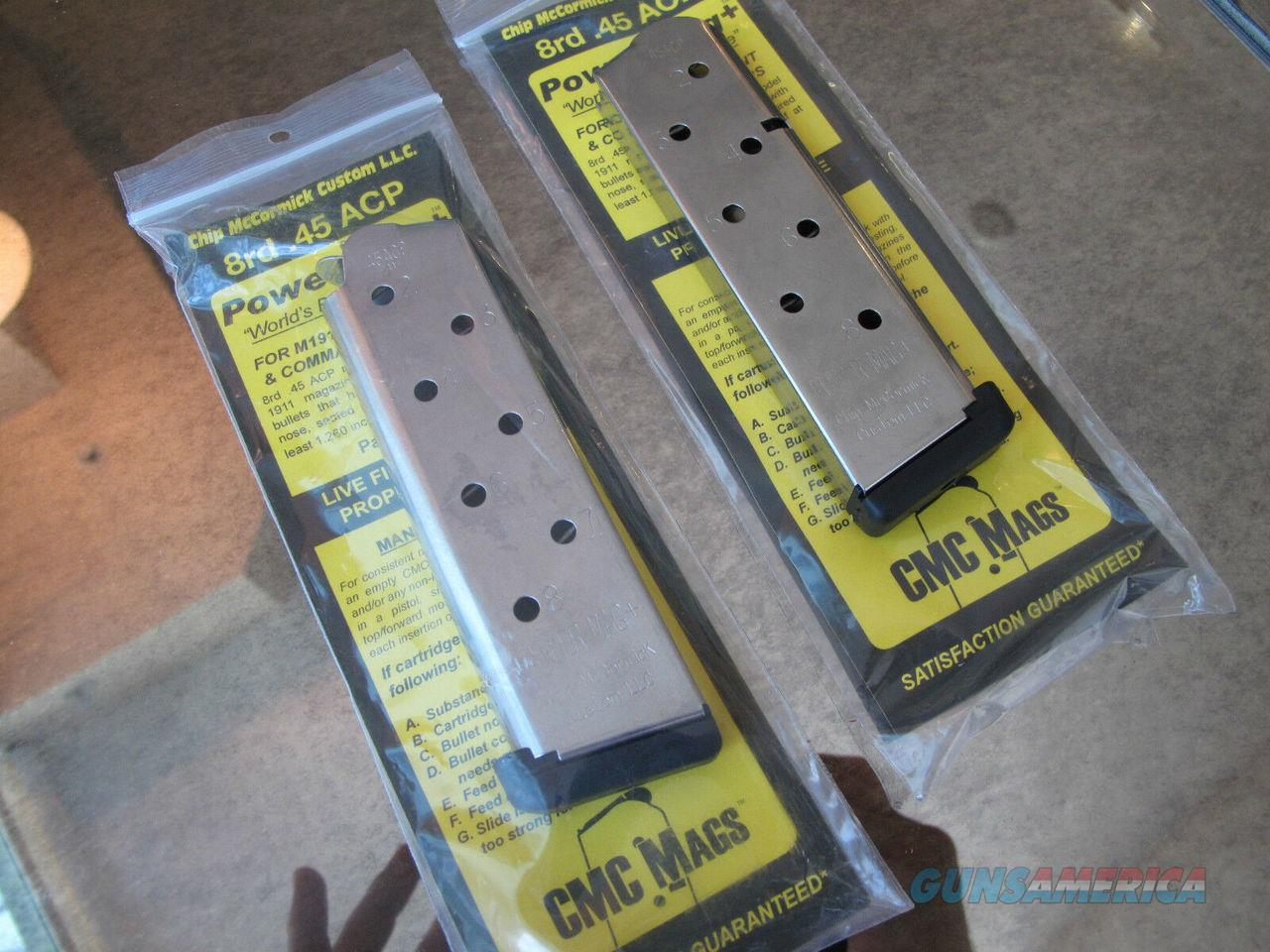 5 Pack Chip McCormick Power Mag PLUS 8rd 1911 45 Magazines Mcormick 45acp NEW!!!  Non-Guns > Ammunition