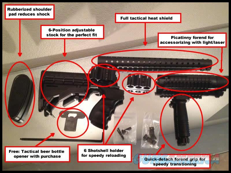6 Position FULL TACTICAL Stock Heat Shield Mossberg 500 590 Shotgun Pistol Grip Telescoping  Non-Guns > Gunstocks, Grips & Wood