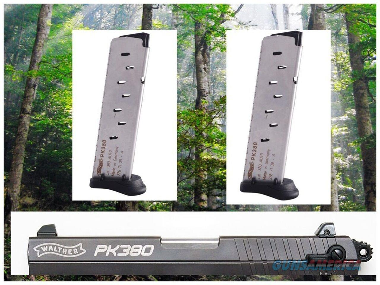 2-Pack Walther PK380 .380 8 Round Walther BRAND Mag Magazine Mags PINKIE REST  Non-Guns > Ammunition