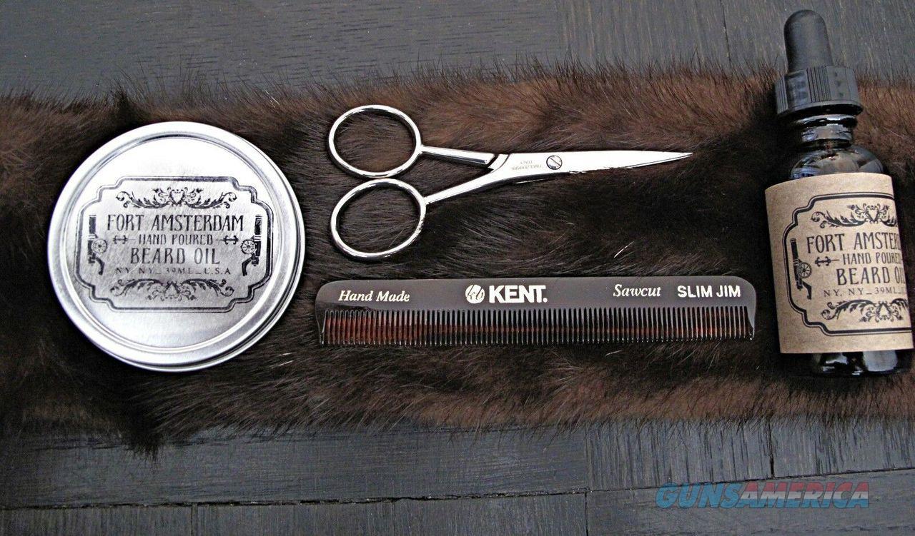 4-Pack Beard Wax Oil KENT Comb Scissors Grooming FORT AMSTERDAM All Handmade!  Non-Guns > Ammunition