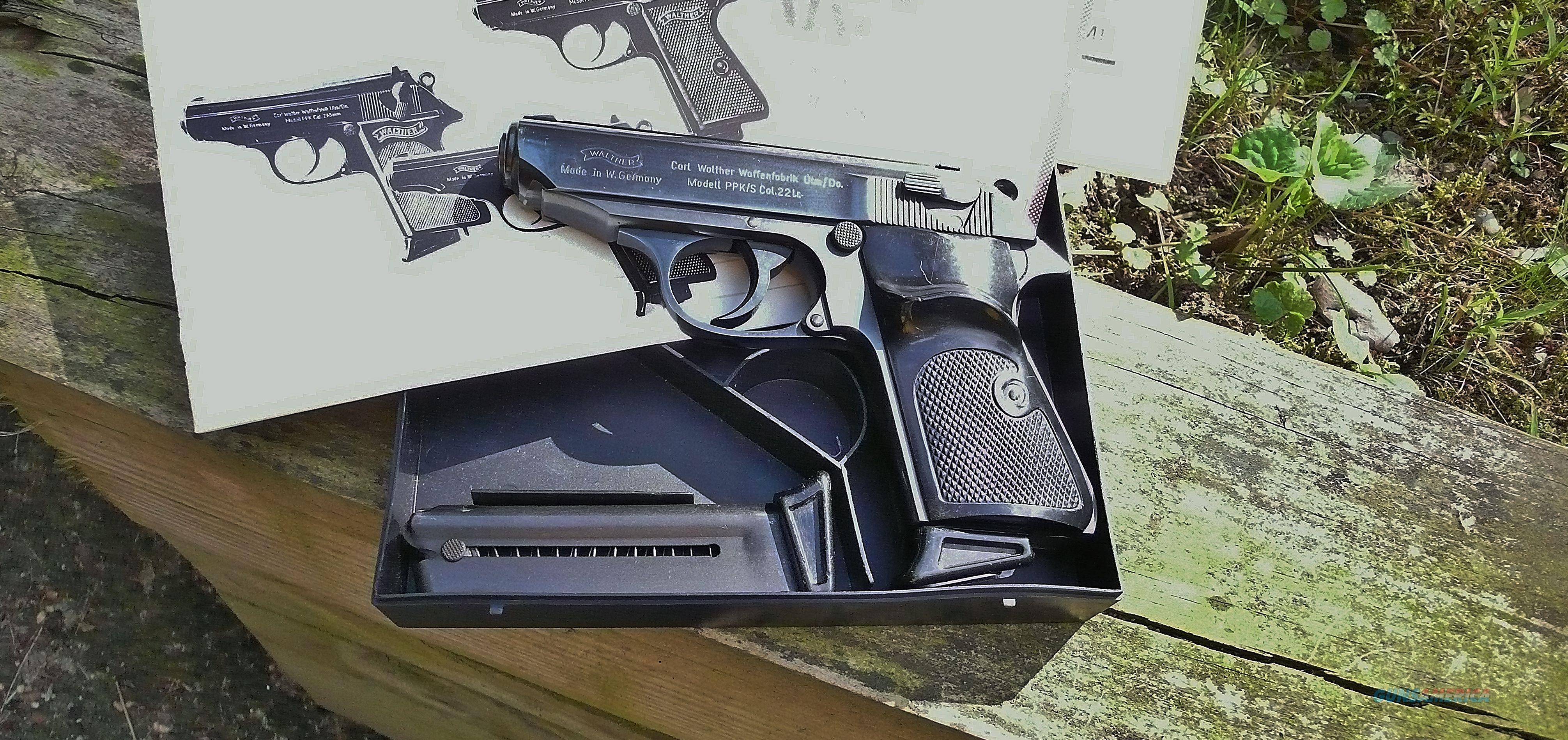 FS  W. German Walther PPK/S 22lr  Guns > Pistols > Walther Pistols > Post WWII > PPK Series