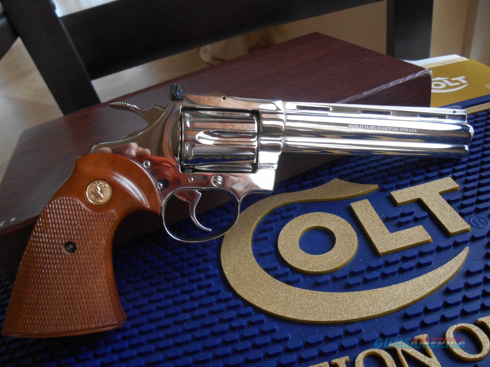 COLT DIAMONDBACK .22LR - Bright Nickel -   Guns > Pistols > Colt Double Action Revolvers- Modern