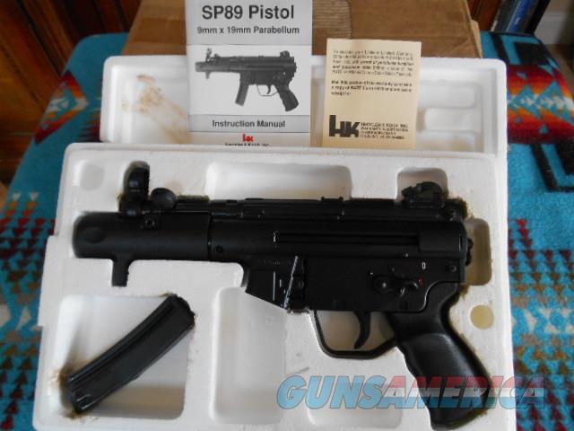 H&K SP89 PISTOL 9mmX19mm Parabellum NIB  Guns > Pistols > Heckler & Koch Pistols > SteelFrame