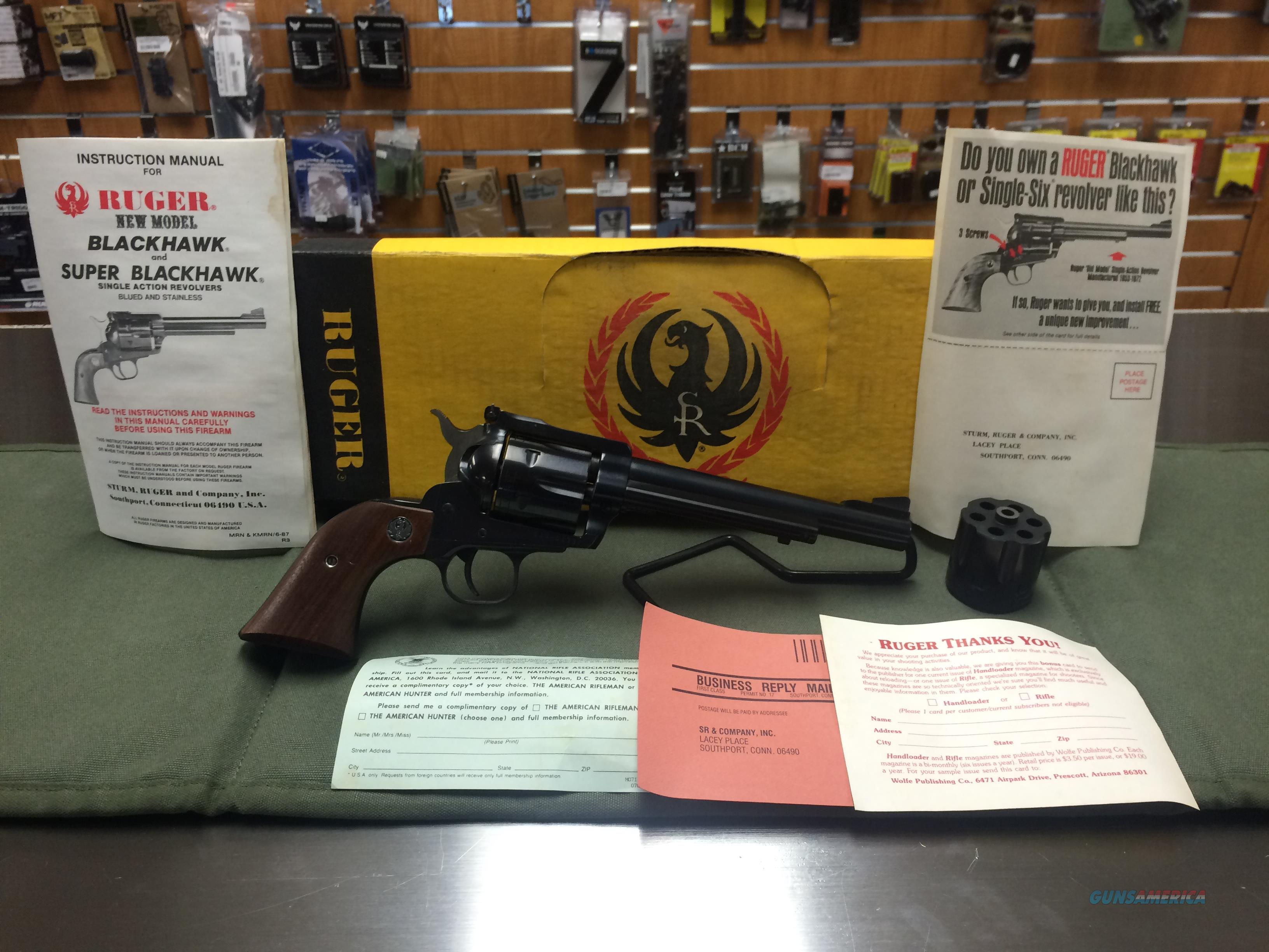 Ruger Blackhawk Convertible .32H&R/32-20WIN S-32X Buckeye NIB!  Guns > Pistols > Ruger Single Action Revolvers > Blackhawk Type