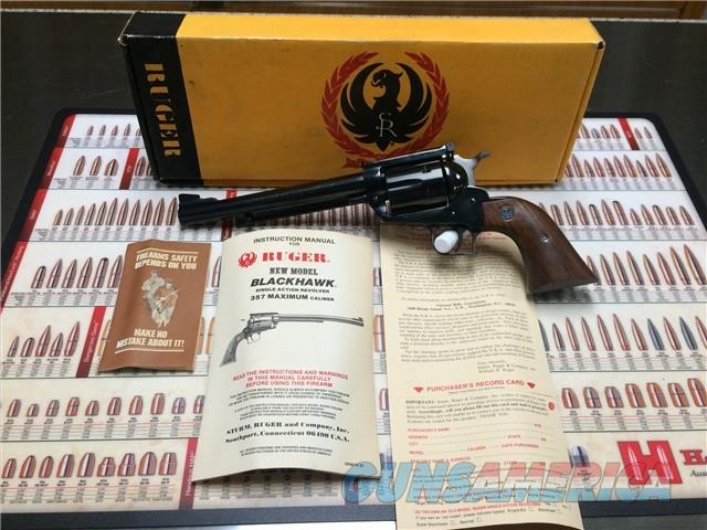 Ruger Blackhawk .357 MAXIMUM Nib/Unfired HARD TO FIND!  Guns > Pistols > Ruger Single Action Revolvers > Blackhawk Type