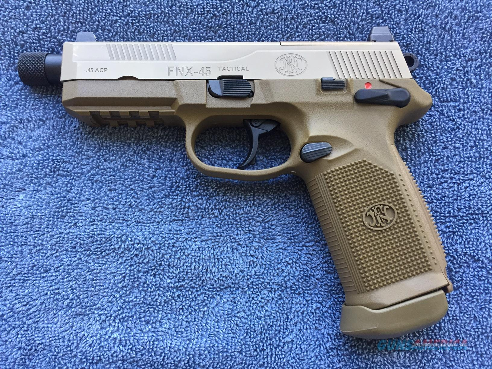 FN FNX-45 Tactical Flat Dark Earth, Used - Like New  Guns > Pistols > FNH - Fabrique Nationale (FN) Pistols > FNX