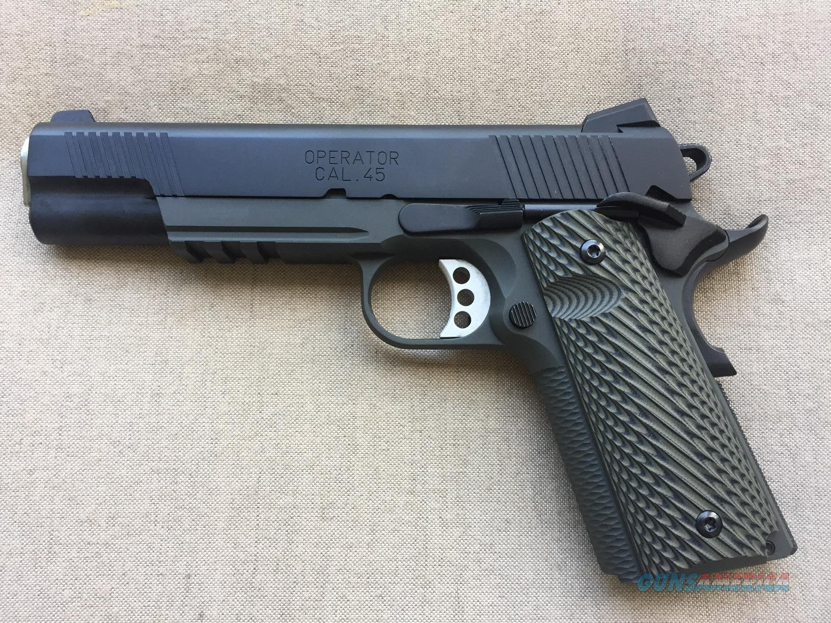 SPRINGFIELD ARMORY LOADED OPERATOR MC 45 ACP; used with only 50 rounds through it  Guns > Pistols > Springfield Armory Pistols > 1911 Type