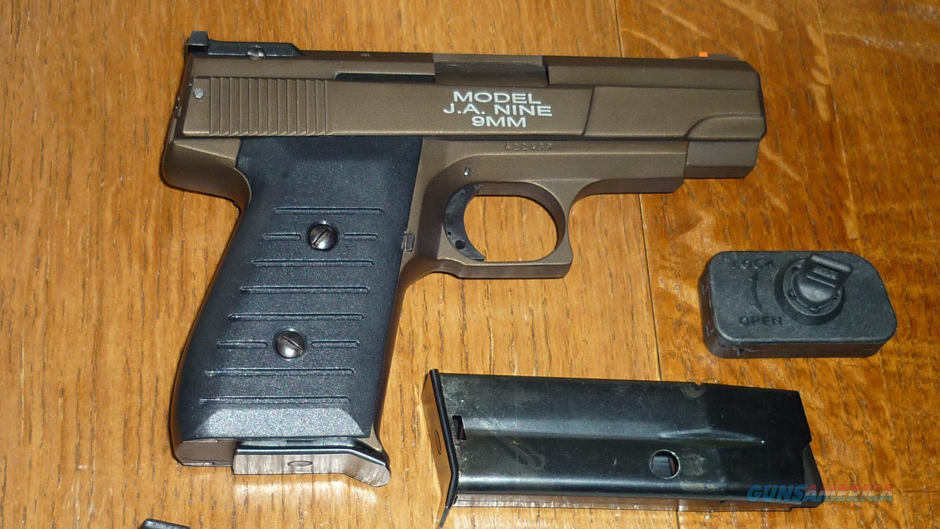 J.A. Nine Pistol in Cerakote Midnight Bronze Color & 2 Magazines  Guns > Pistols > Jimenez Arms- J.A. Pistols