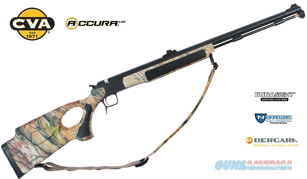 CVA Accura V2 Northwest Nitride Stainless Steel-Realtree APG HD Thumbhole-Fiber Optic Sights (ON SALE)  Guns > Rifles > Muzzleloading Modern & Replica Rifles (perc) > Modern Inline