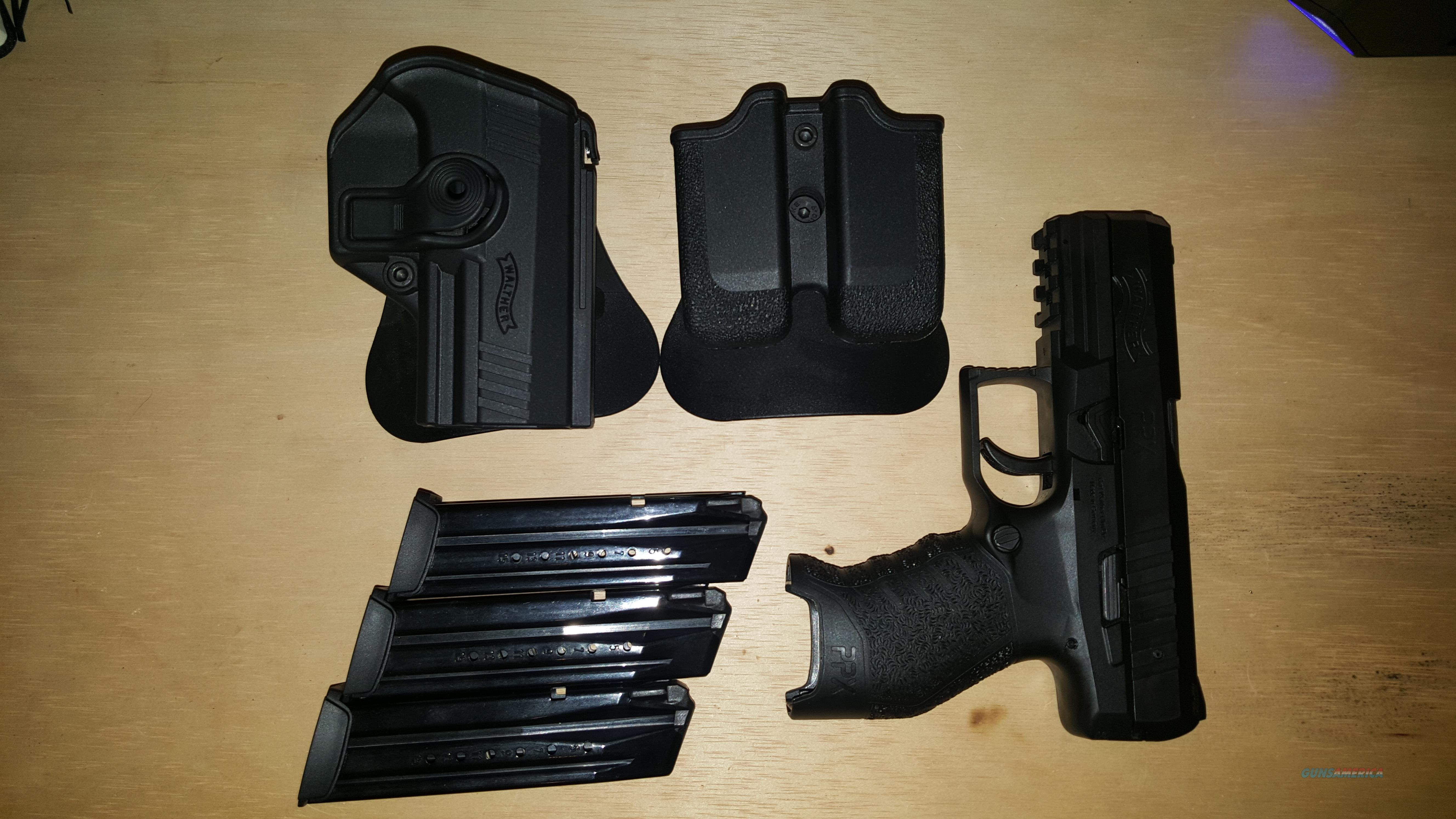 Walther PPX 1M 9mm w/ 3 mags & holster  Guns > Pistols > Walther Pistols > Post WWII > PPX