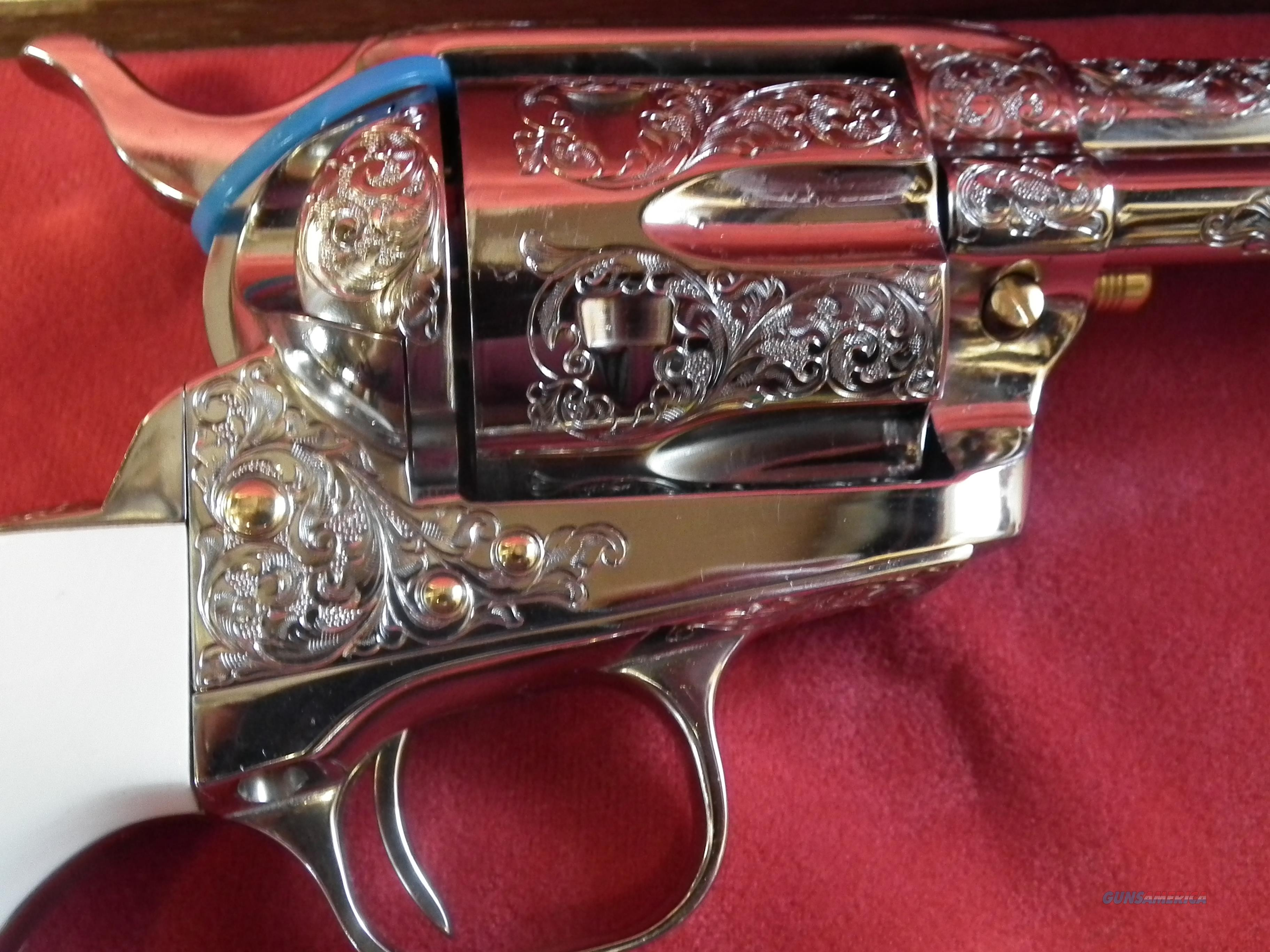 ENGRAVED COLT SAA NEW, NEVER FIRED..price reduced  Guns > Pistols > Colt Single Action Revolvers - 3rd Gen.