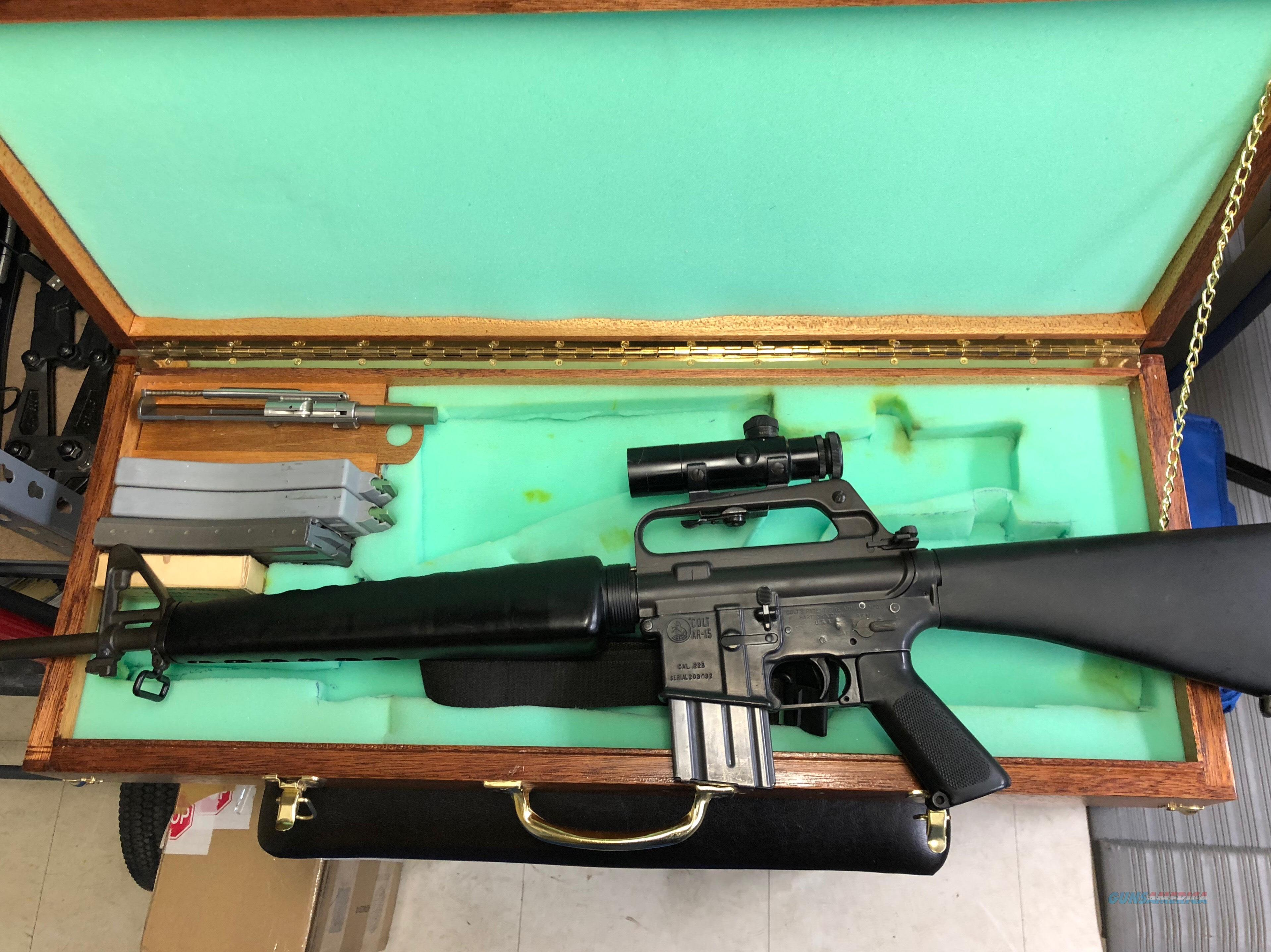 RARE COLT AR-15 PRE BAN WITH ORIGINAL .22LR CONVERSION KIT  Guns > Rifles > Colt Military/Tactical Rifles