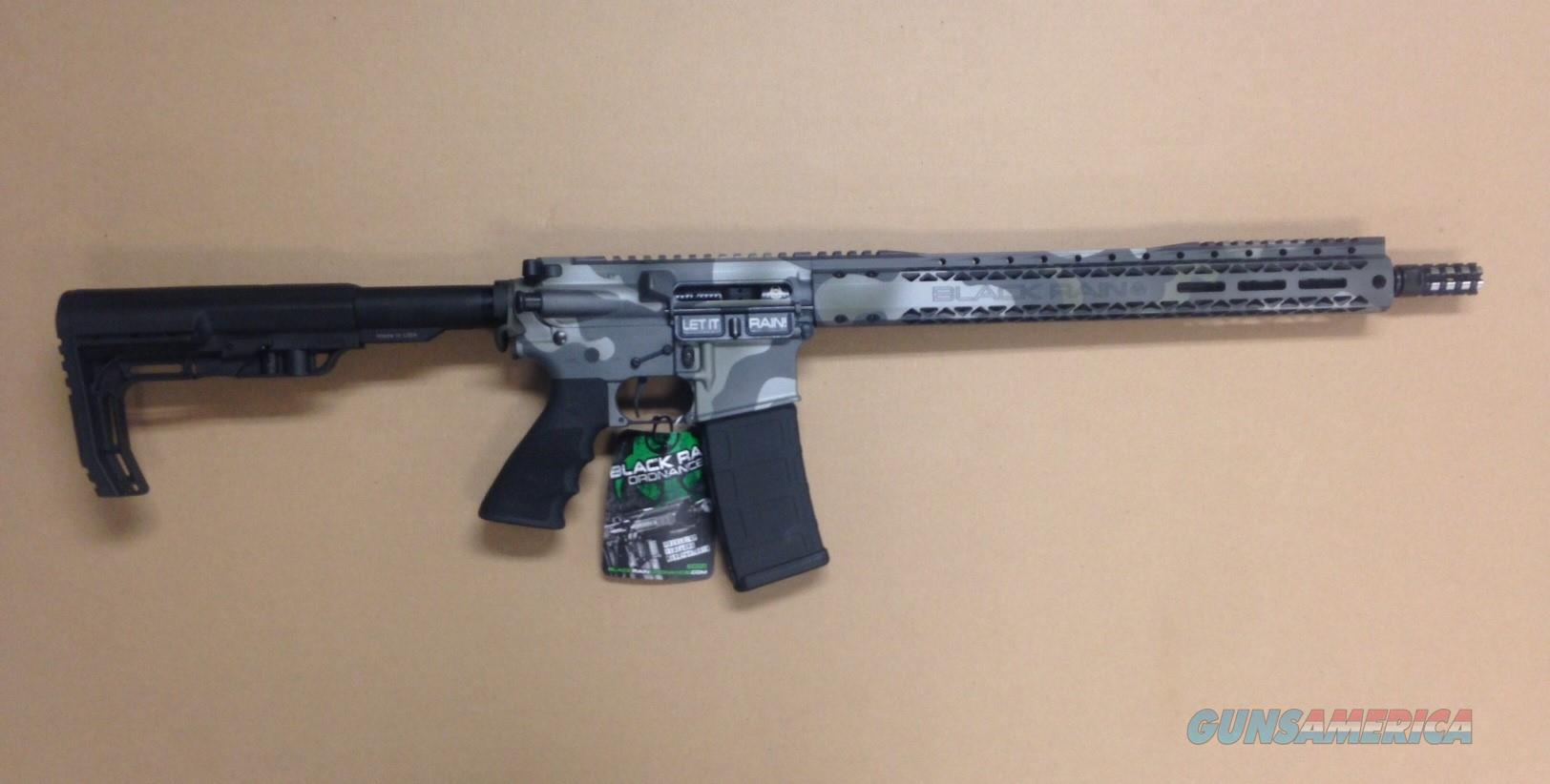 BLACK RAIN ORDNANCE >>LIMITED EDITION<< CUSTOM WOODLAND CAMO BRO SPEC15 SSP  Guns > Rifles > B Misc Rifles