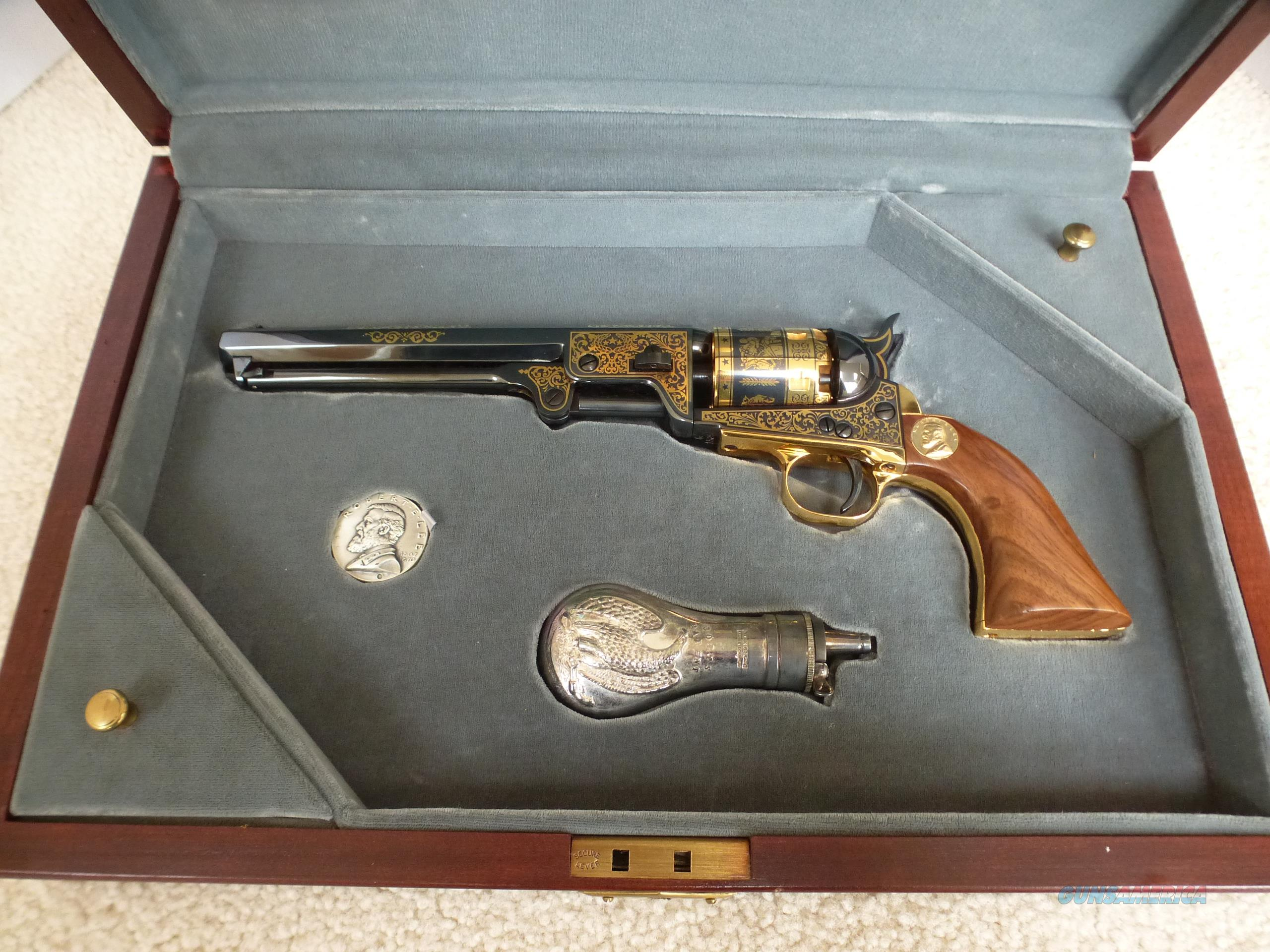 ROBERT E. LEE COMMEMORATIVE 51 Navy Colt Black Powder Pistol with Case in Excellent Condition -  Collector's Rare Find or Great Gift for the Western Fan  Guns > Pistols > Muzzleloading Modern & Replica Pistols (perc)