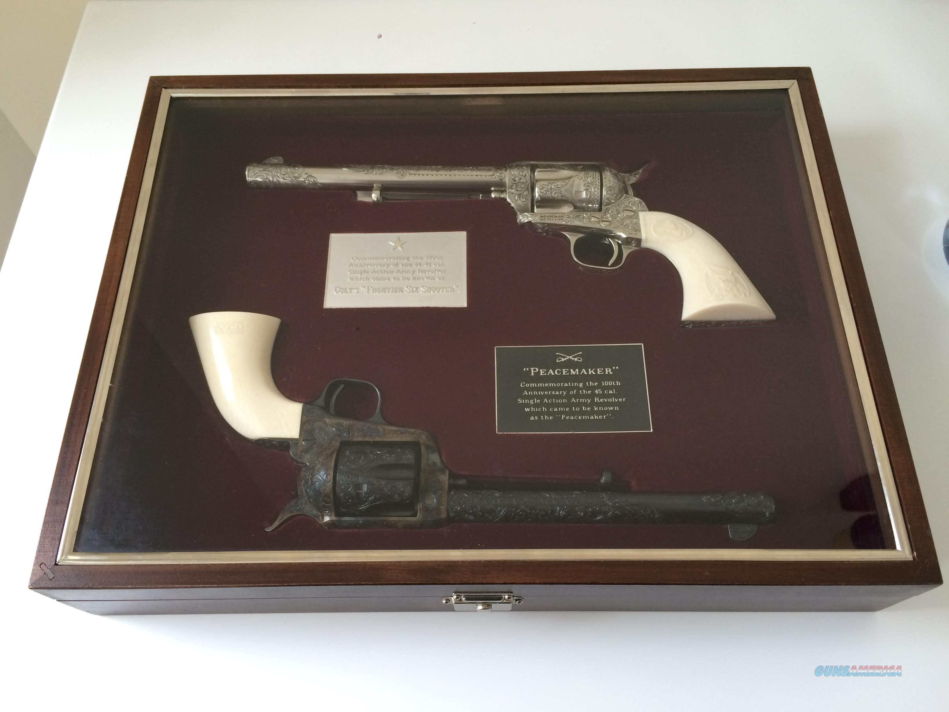 EXQUISITE PAIR OF RARE COMMEMORATIVE 1873-1973 COLT SAA'S  Guns > Pistols > Colt Commemorative Pistols