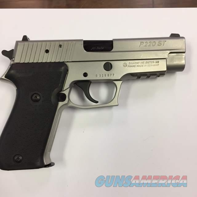 Sig Sauer P220ST, Full Stainless Steel frame & slide. .45acp  Guns > Pistols > Sig - Sauer/Sigarms Pistols > P220