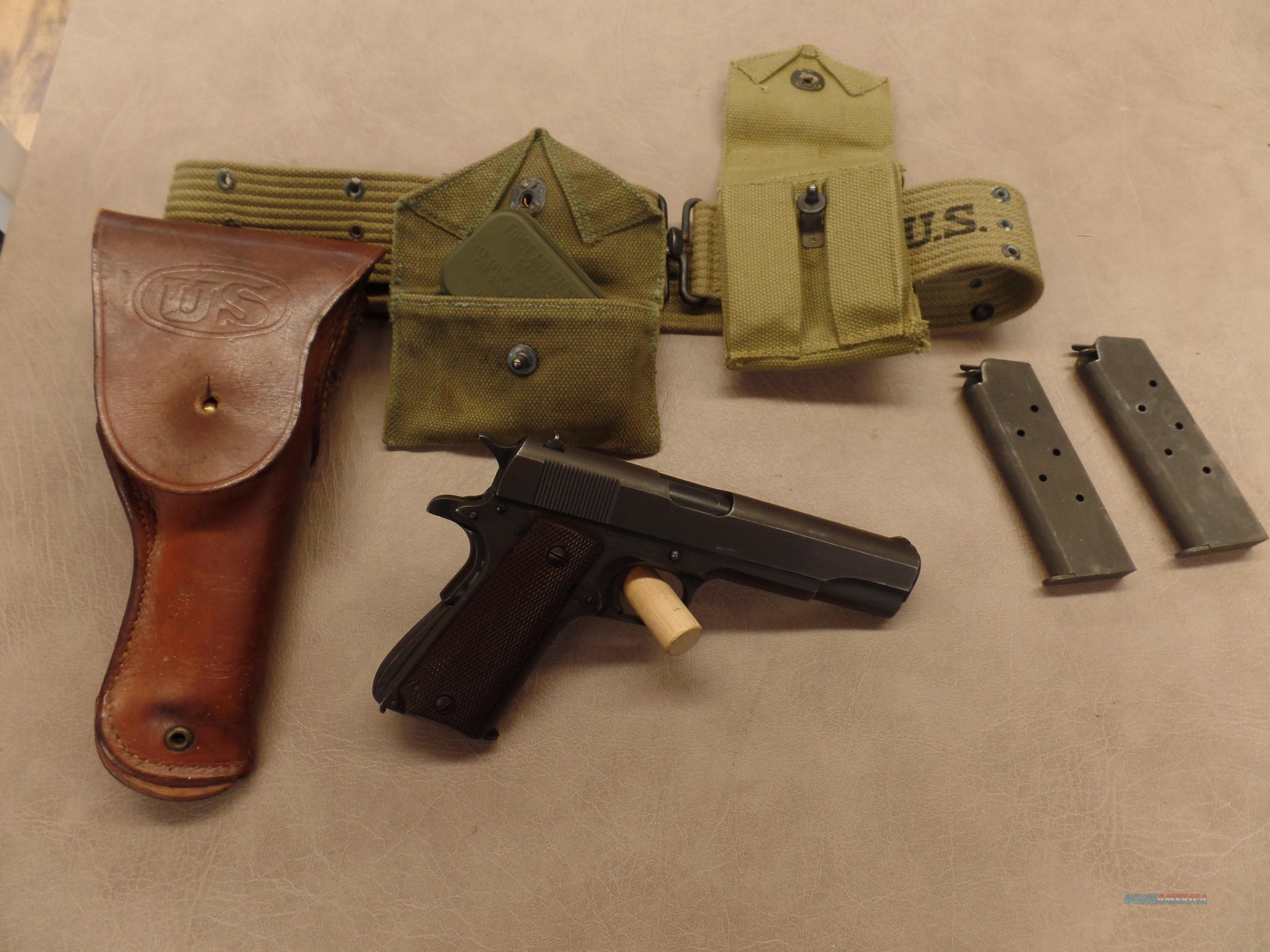 Early 1944 Remington Rand 1911 .45ACP- Dated GI Rig 1942  Guns > Pistols > Remington Pistols - Modern > 1911