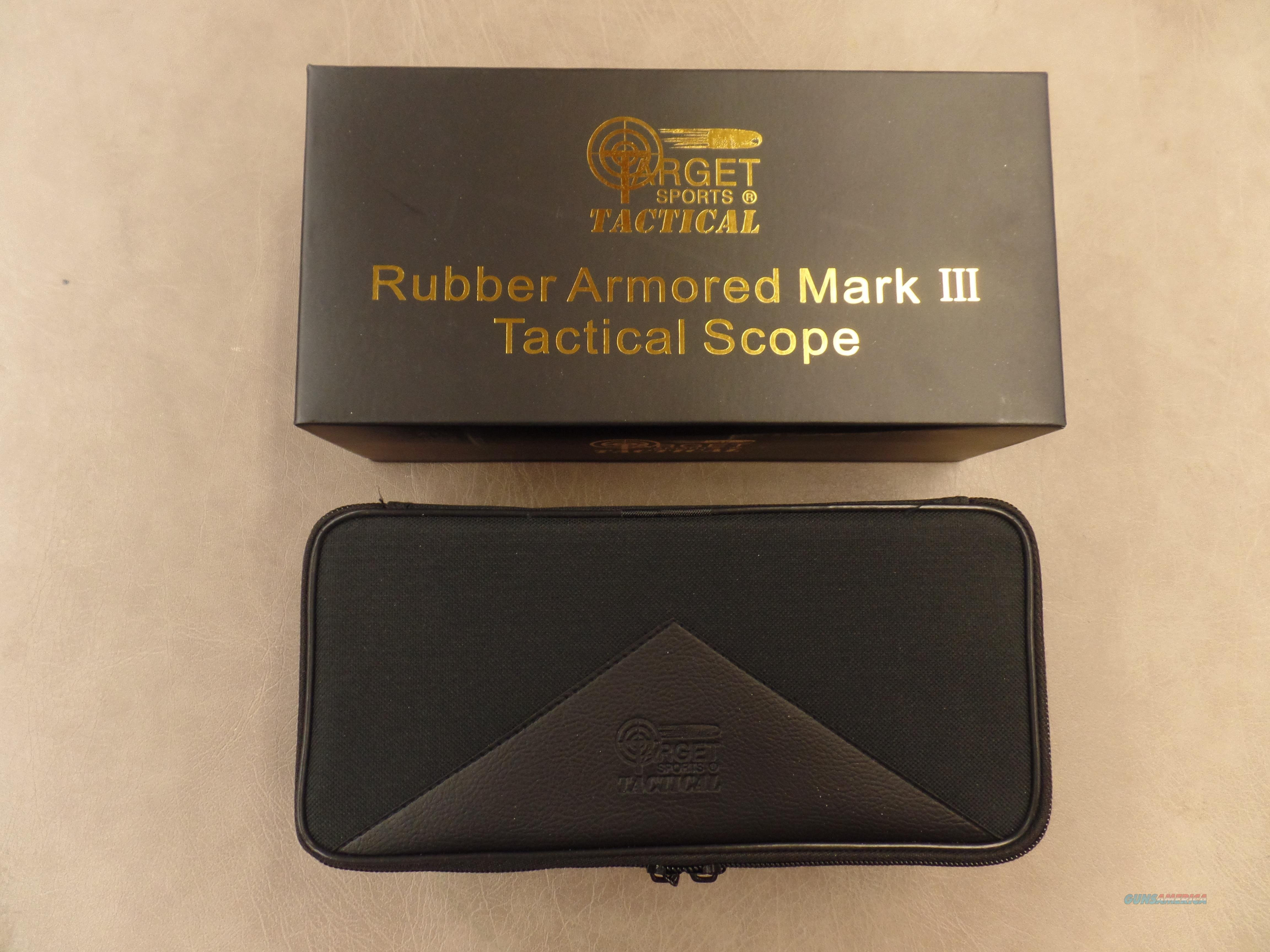 Target Sport Tactical Rubber Armored Mark III 3-9X42 Lighted Reticle / And Laser  Non-Guns > Scopes/Mounts/Rings & Optics > Tactical Scopes > Variable Recticle