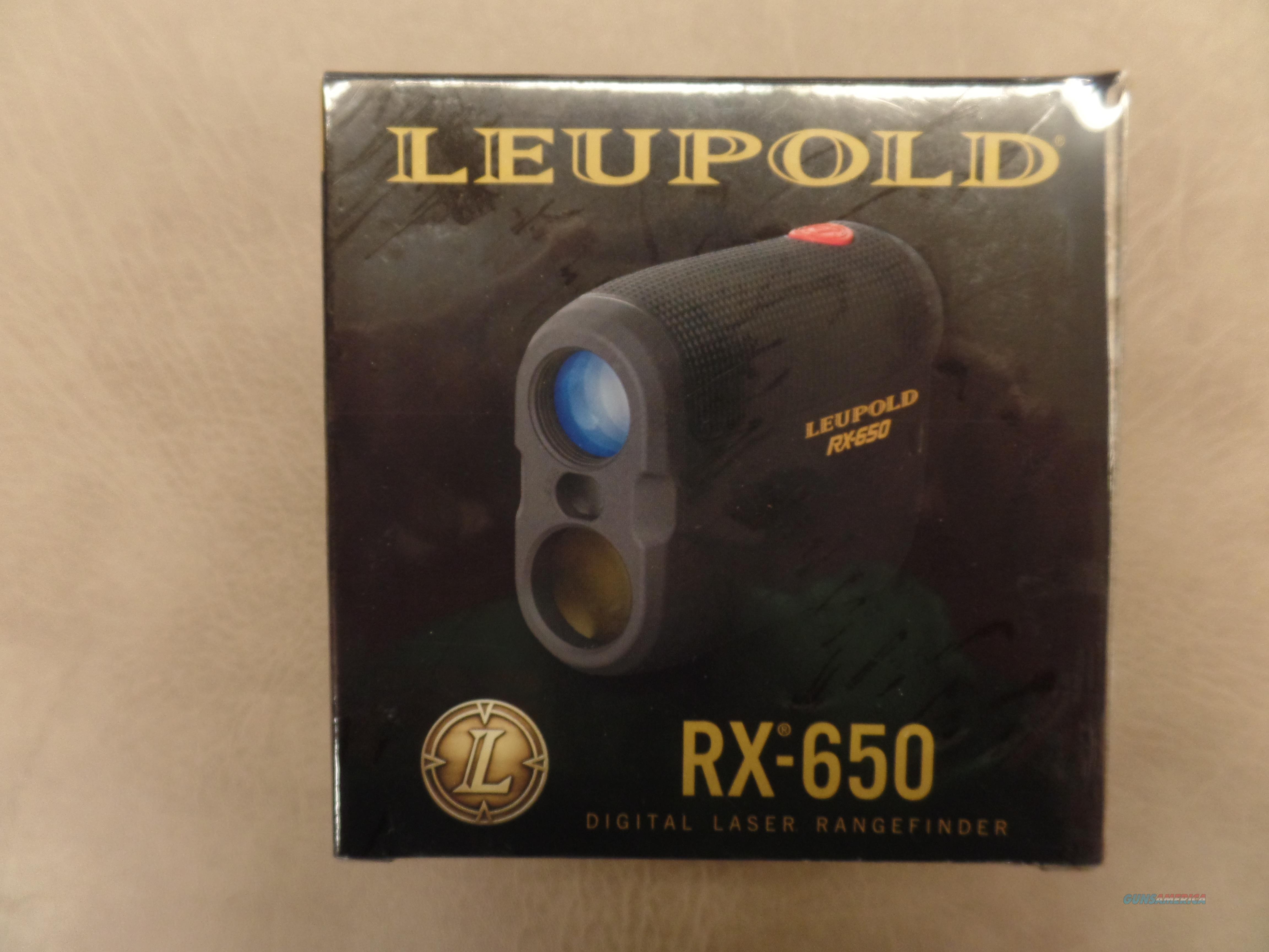 Leupold RX-650 Digital Laser Rangefinder  Non-Guns > Scopes/Mounts/Rings & Optics > Non-Scope Optics > Rangefinders