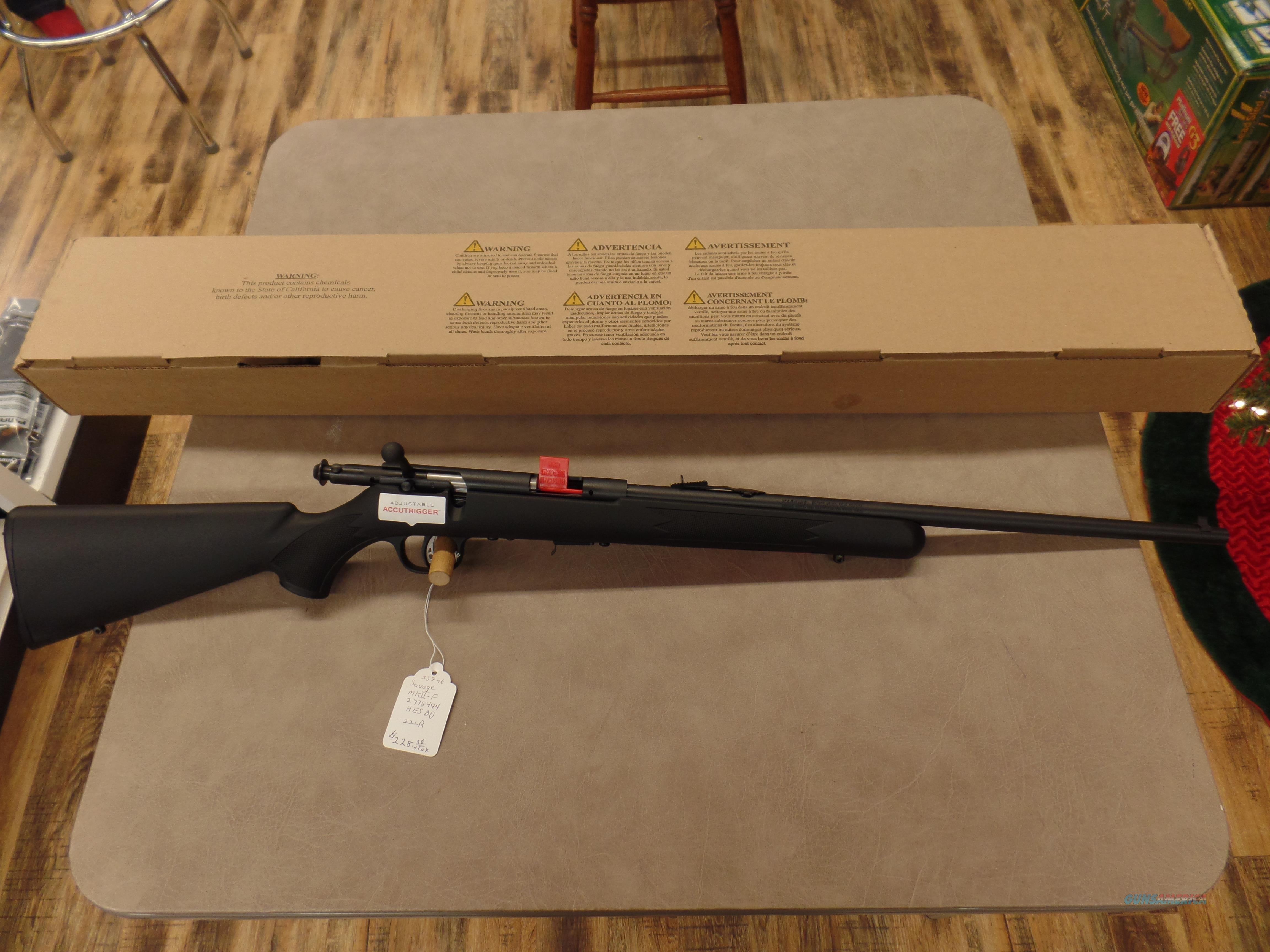 Savage Mark III F Synthetic Stock (22 LR)  Guns > Rifles > Savage Rifles > Other