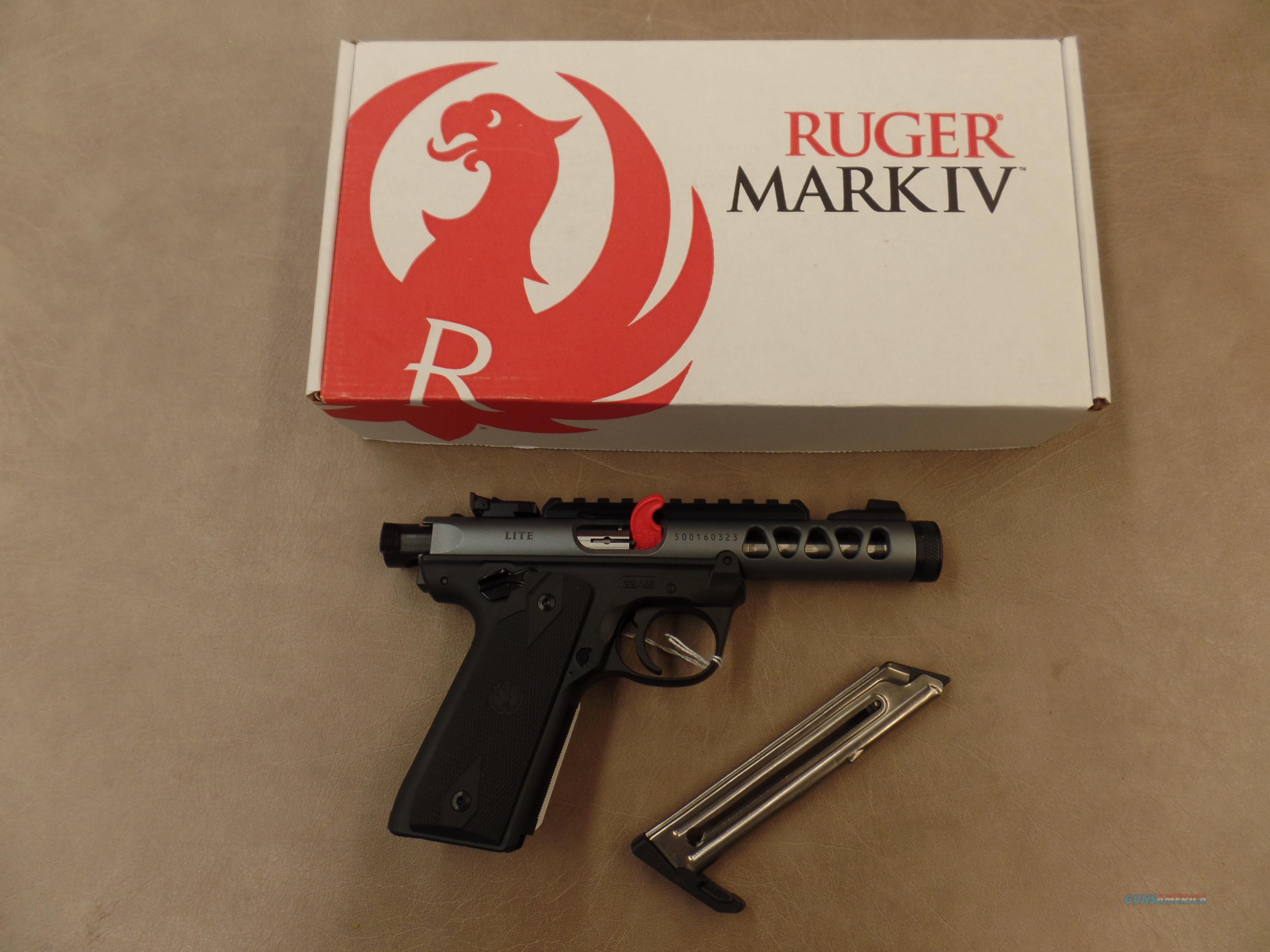 Ruger Mark IV 22/45 Lite NON Threaded Diamond Gray Anodized (22 LR)  Guns > Pistols > Ruger Semi-Auto Pistols > 22/45