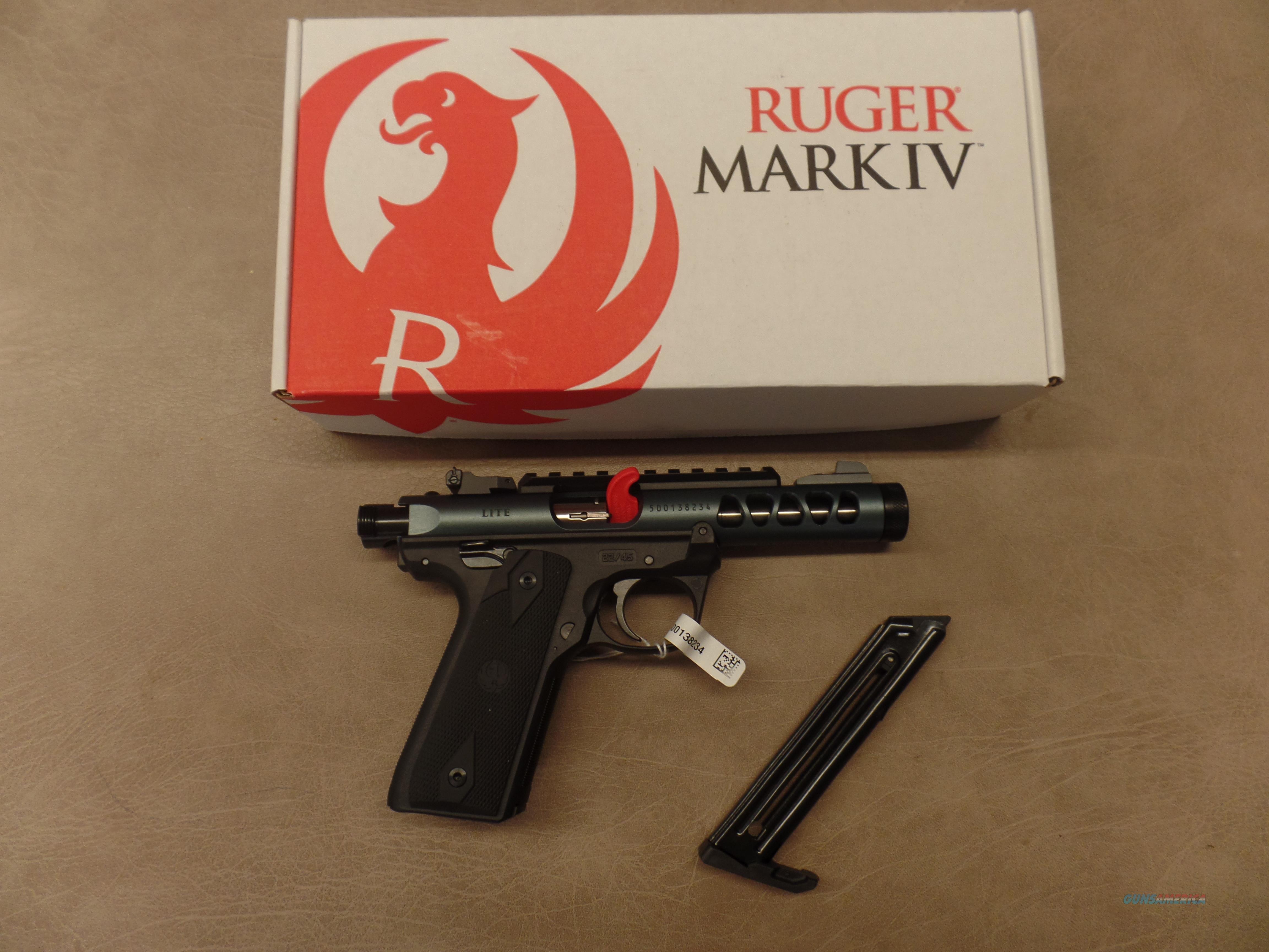 Ruger Mark IV 22/45 Lite Diamond Gray Anodized  Guns > Pistols > Ruger Semi-Auto Pistols > 22/45