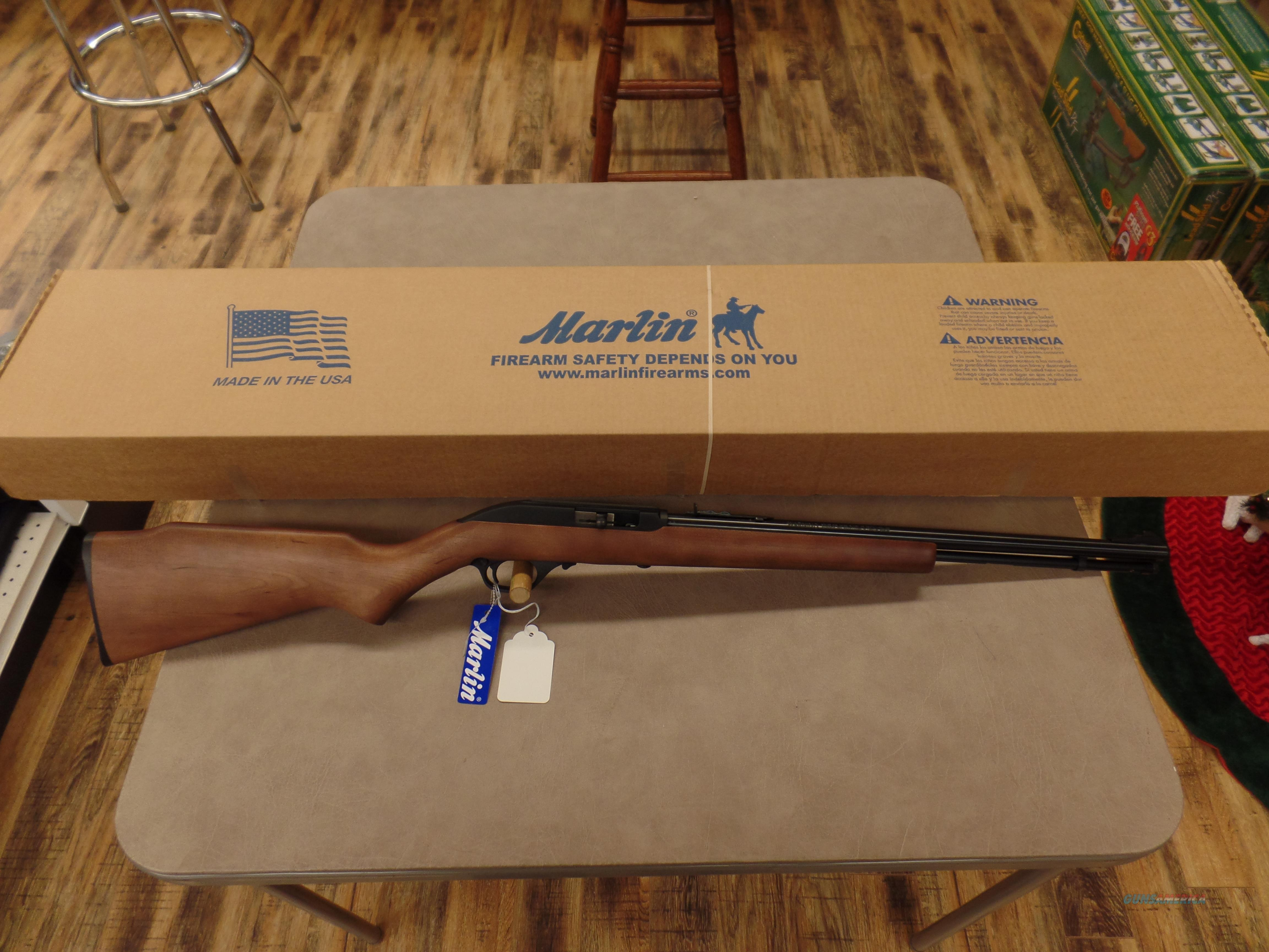 Marlin Model 60 Wood Stock (22 LR)  Guns > Rifles > Marlin Rifles > Modern > Semi-auto
