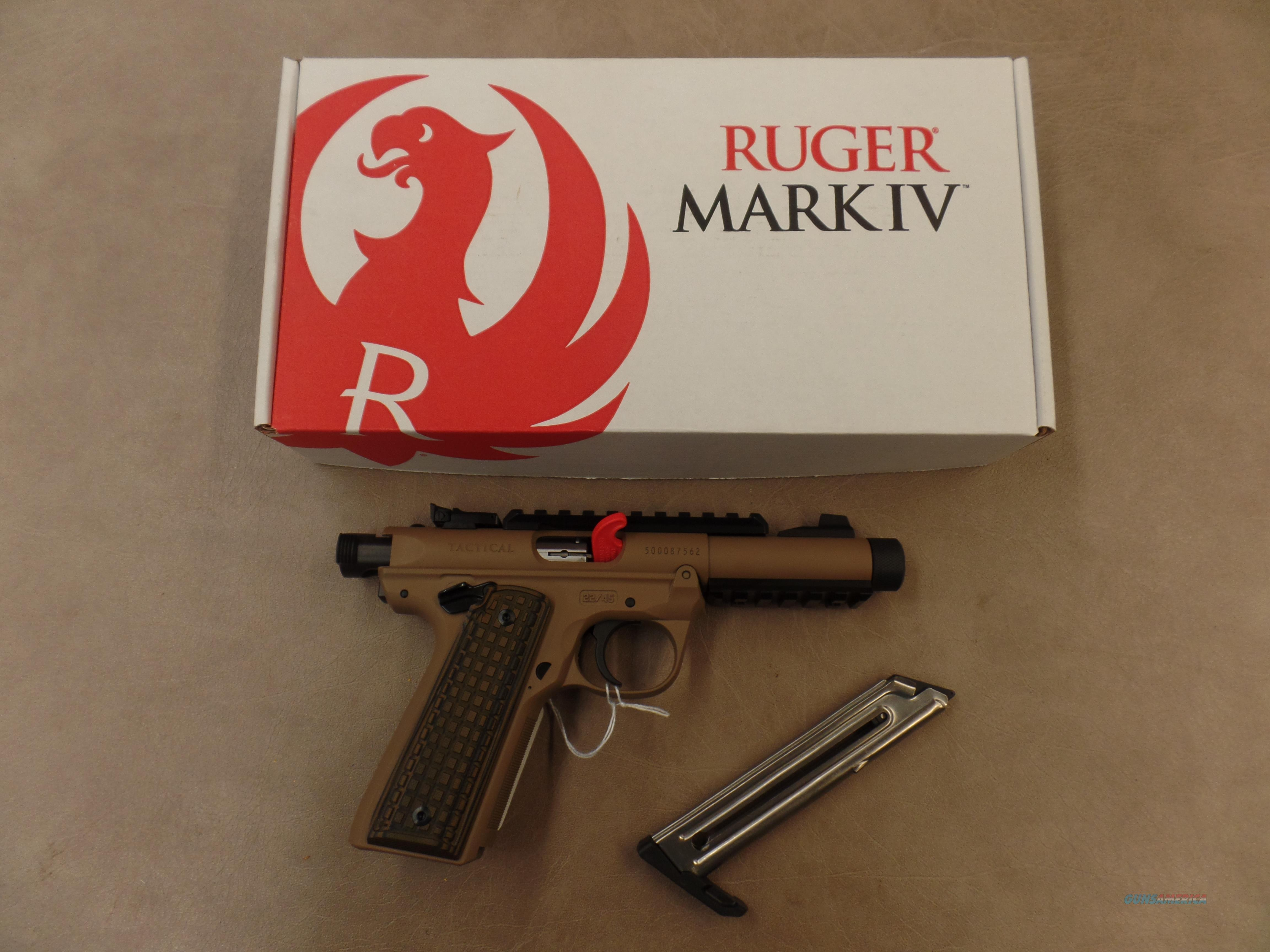Ruger 22/45 Target Threaded Brown Cerakote (22 LR)  Guns > Pistols > Ruger Semi-Auto Pistols > 22/45