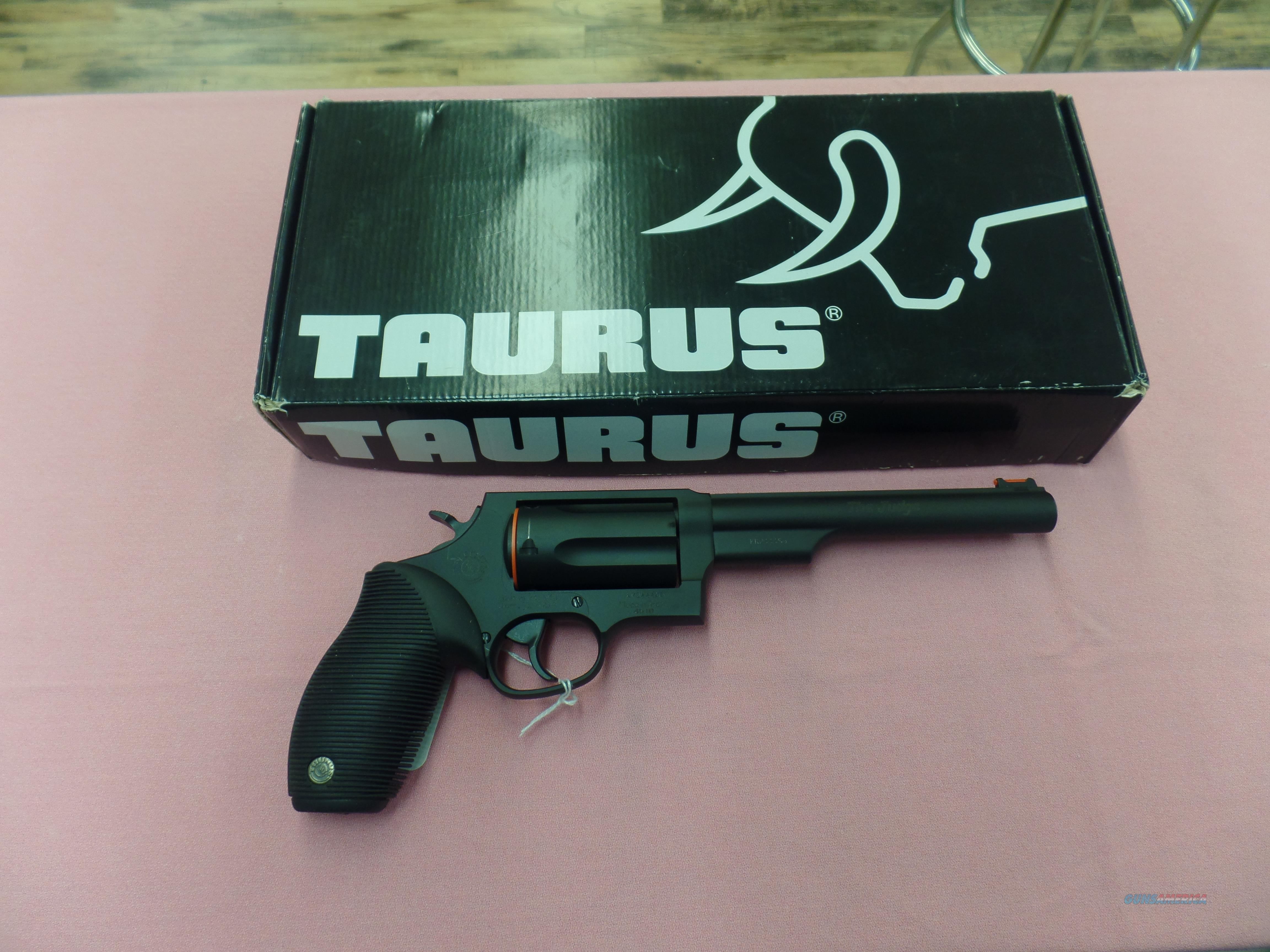 "Taurus Judge Black 6 1/2"" Barrel (45LC/410)  Guns > Pistols > Taurus Pistols > Revolvers"