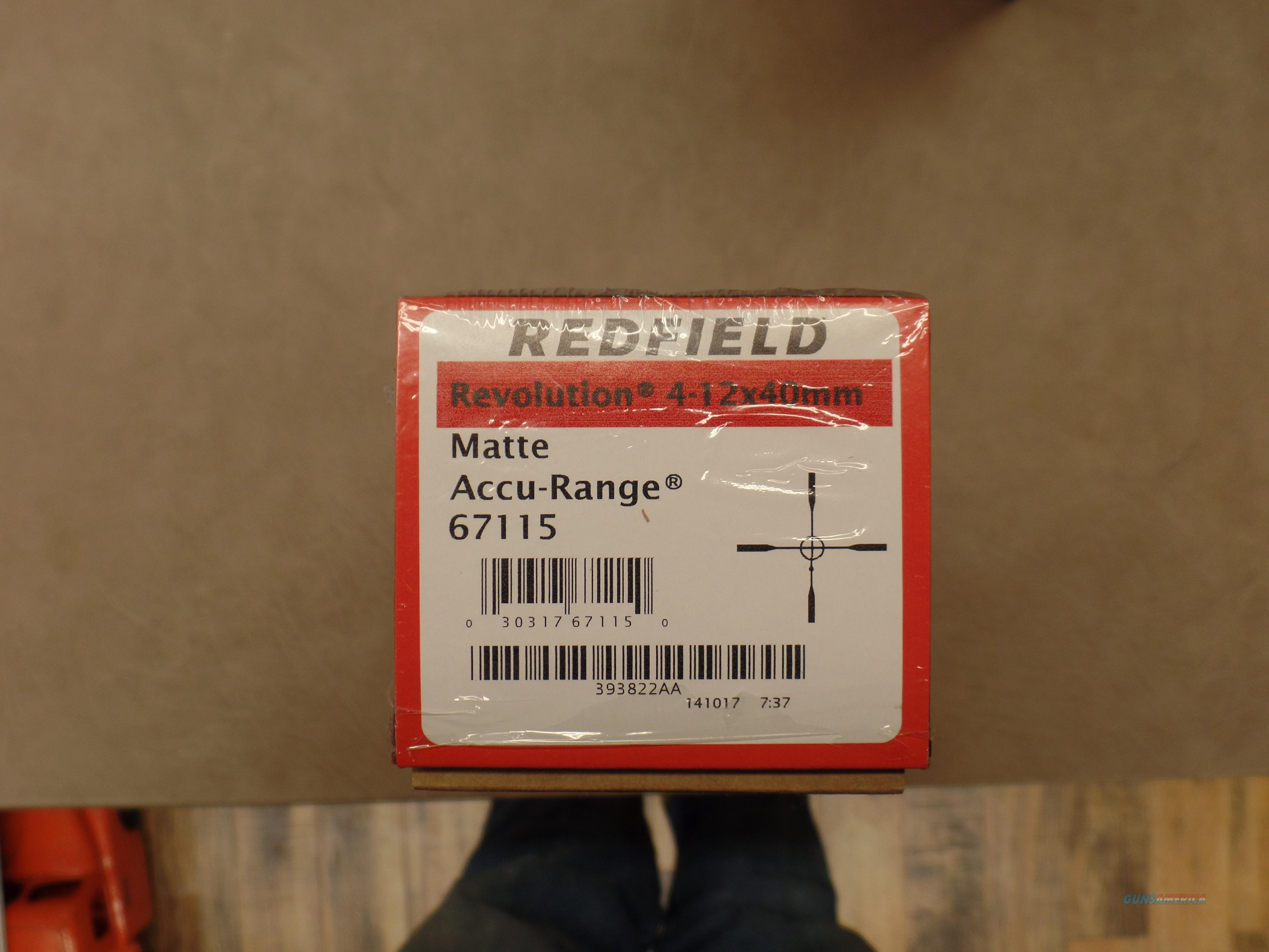 Redfield Revolution 4-12X40 Matte Accu-Range  Non-Guns > Scopes/Mounts/Rings & Optics > Rifle Scopes > Variable Focal Length