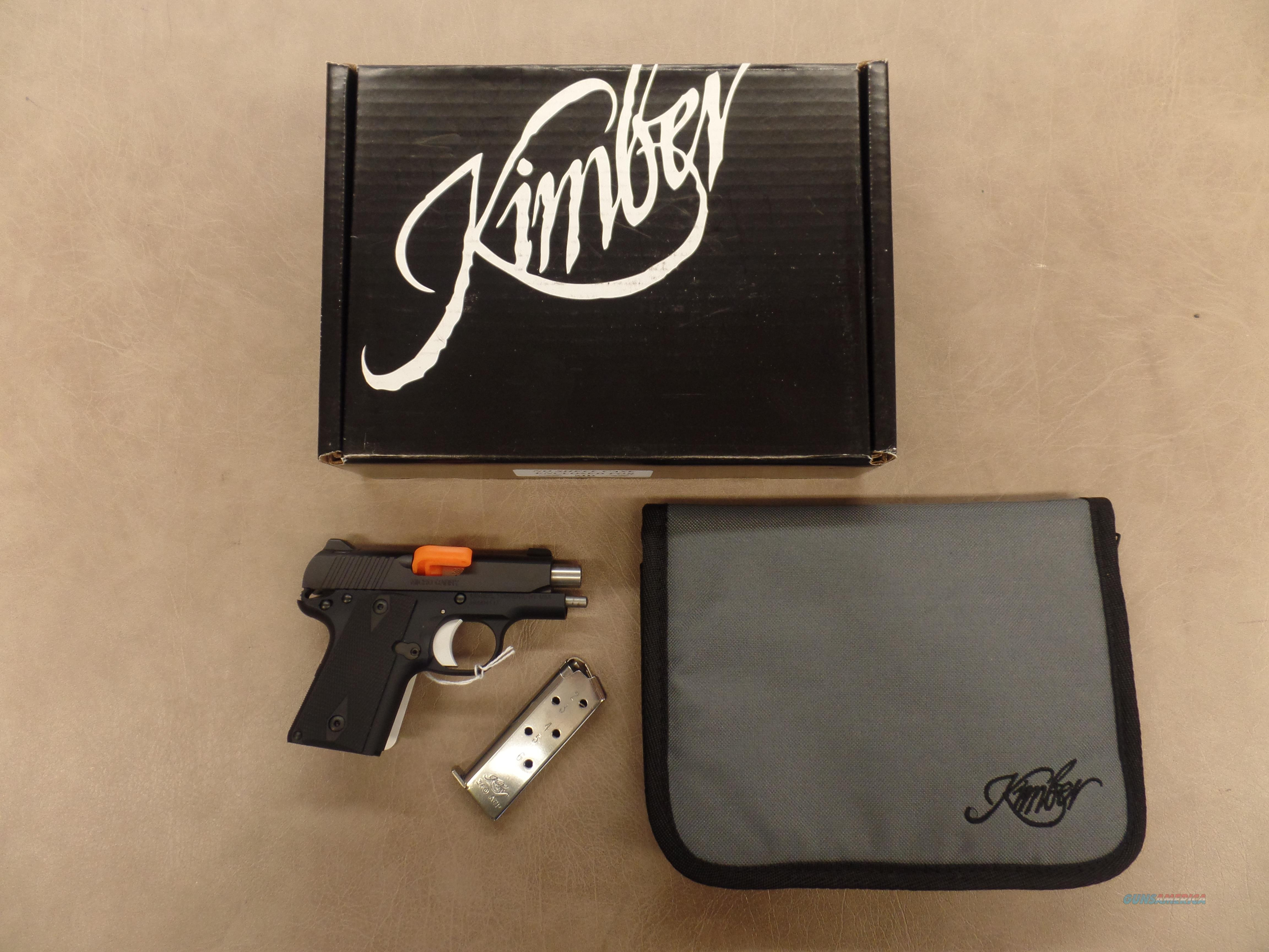 Kimber 1911 Micro Carry 380 Black   Guns > Pistols > Kimber of America Pistols > 1911