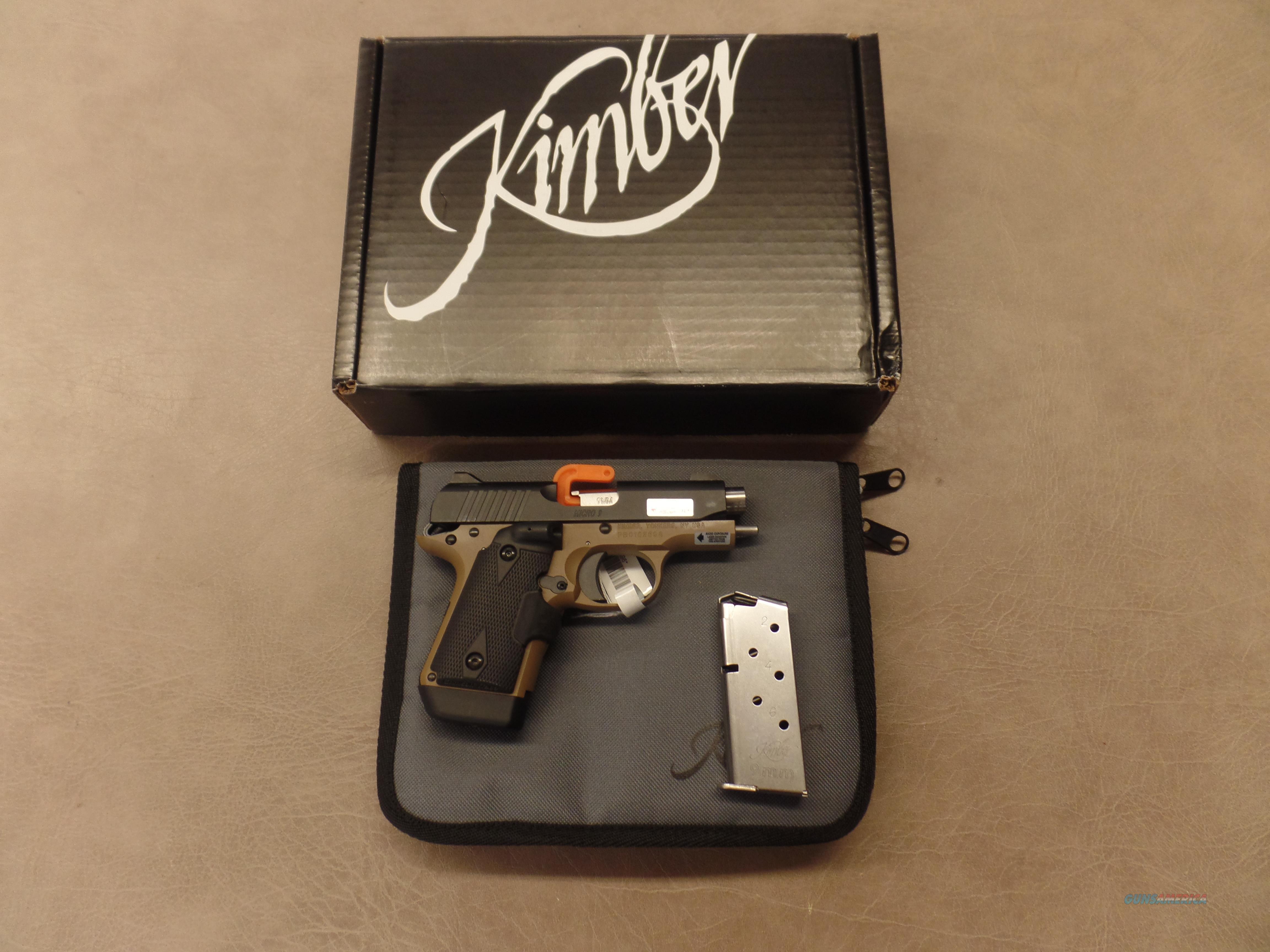 Kimber Micro 9 Desert Night Crimson  Guns > Pistols > Kimber of America Pistols > Micro 9