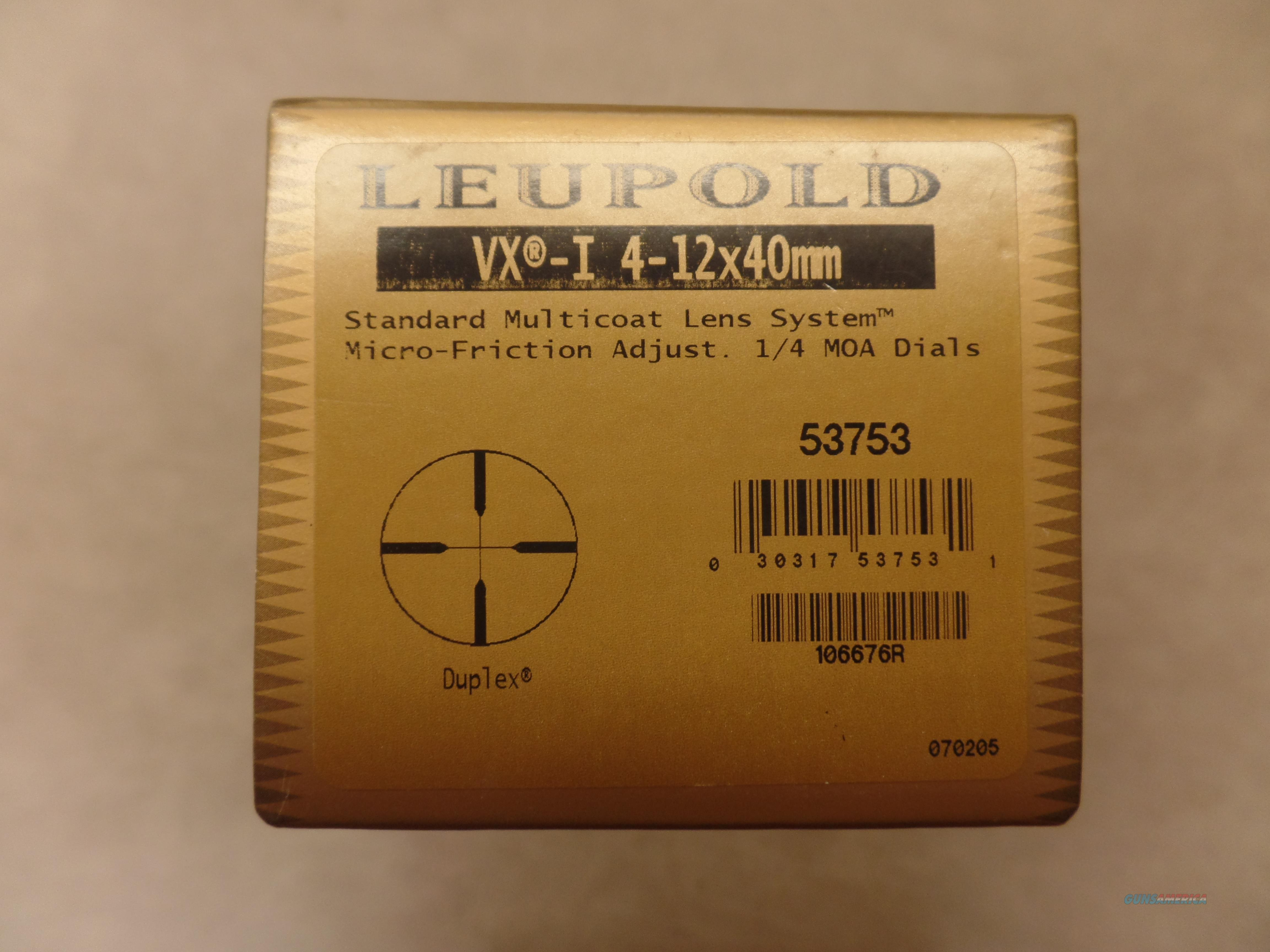 Leupold 100 Anniversary VX-1 4-12X40 Gloss  Non-Guns > Scopes/Mounts/Rings & Optics > Rifle Scopes > Variable Focal Length
