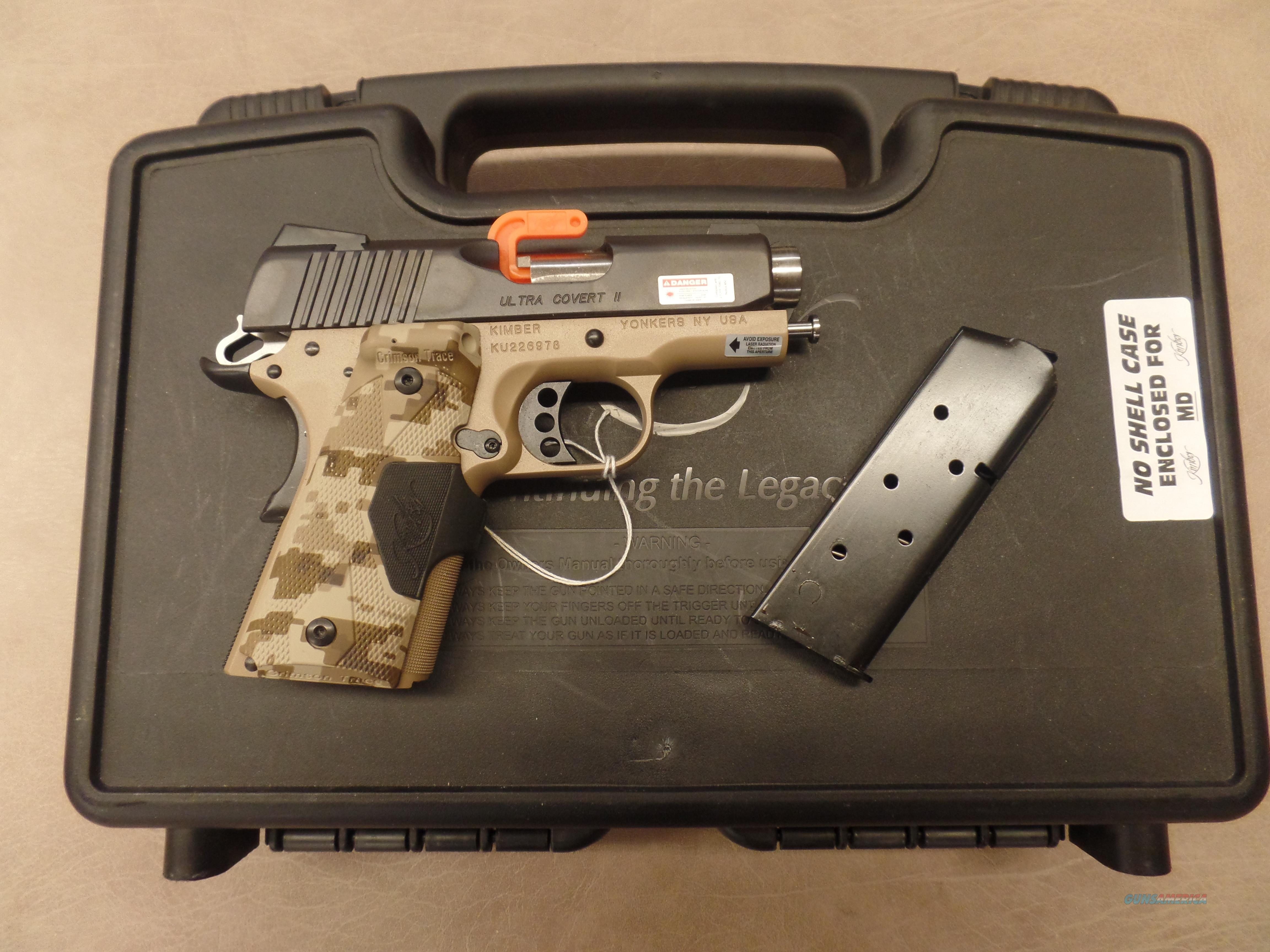 Kimber Ultra Covert II With CTC And Night Sights  Guns > Pistols > Kimber of America Pistols > 1911