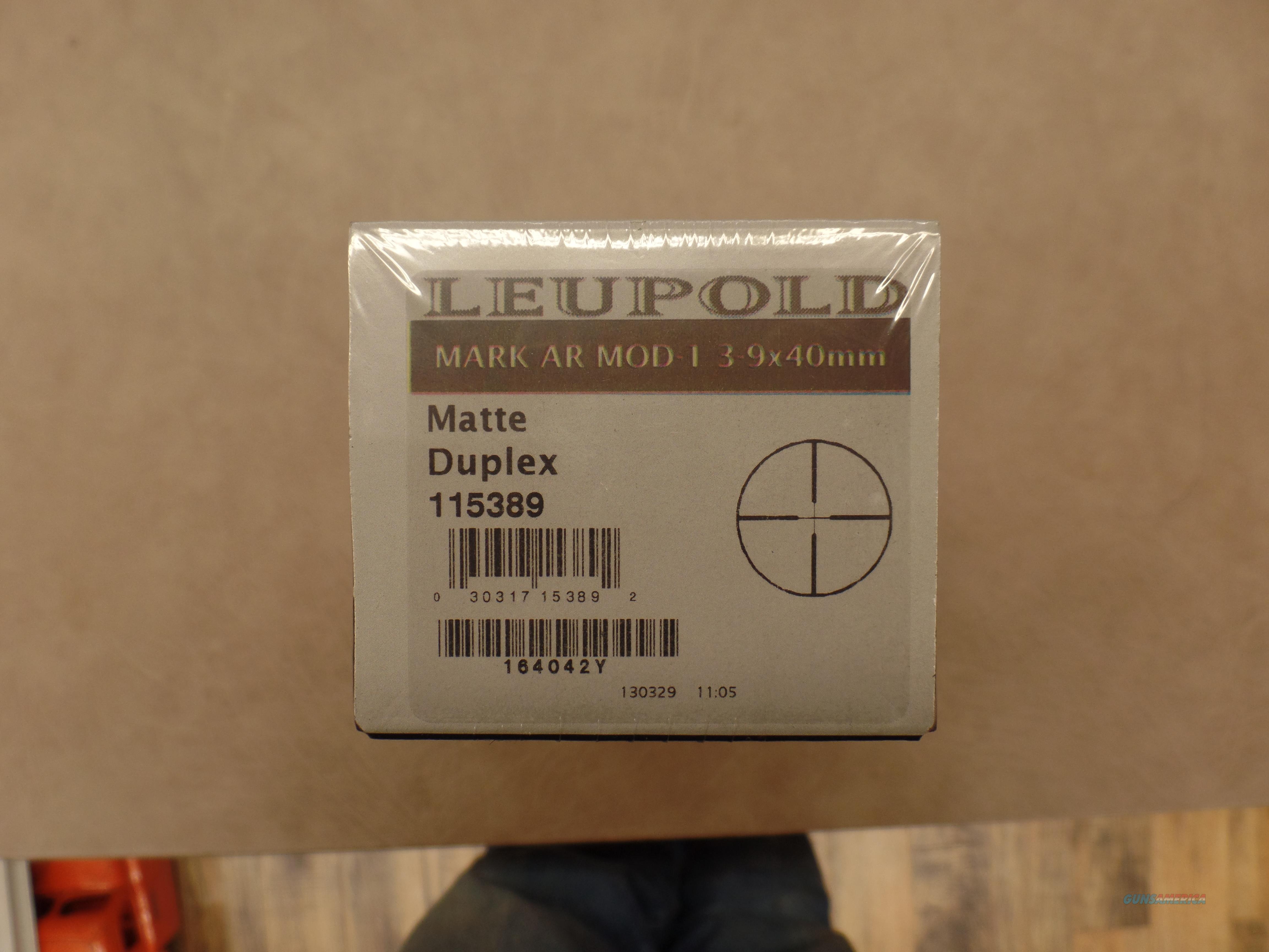 Leupold MARK AR MOD 1 3-9X40 Matte  Non-Guns > Scopes/Mounts/Rings & Optics > Tactical Scopes > Other Head-Up Optics